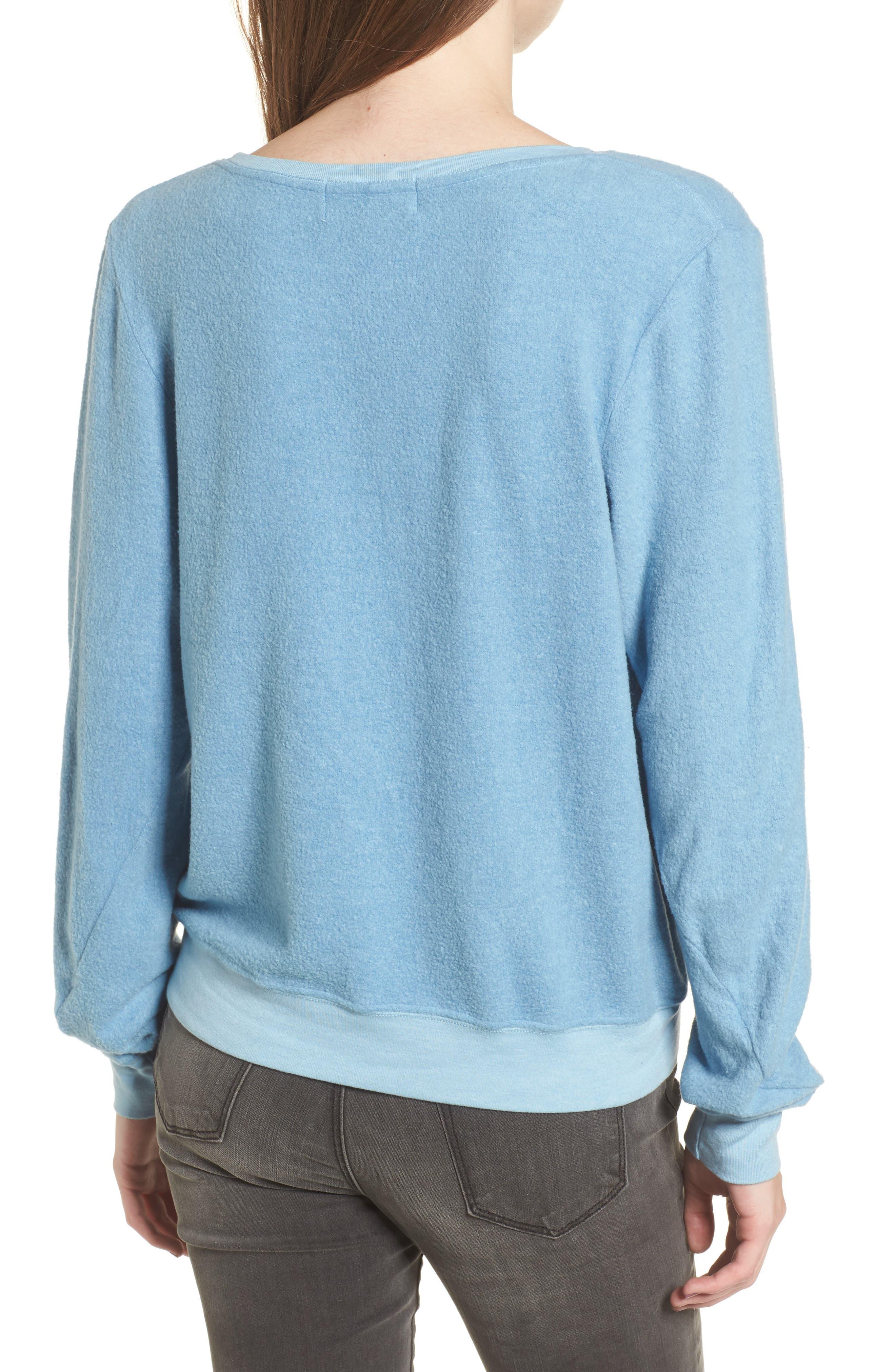 Très Chic Sweatshirt,                             Alternate thumbnail 2, color,                             Dahlia
