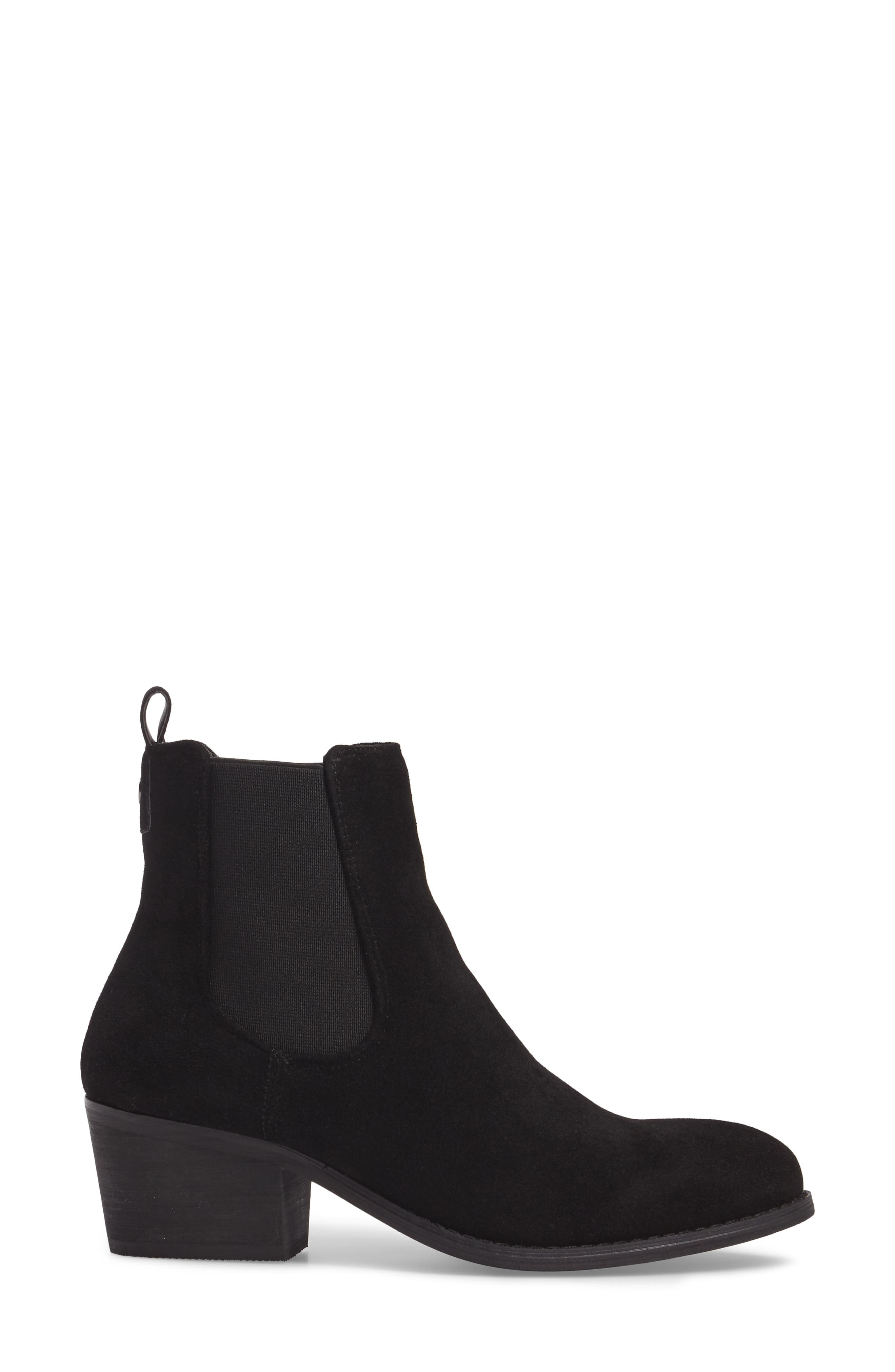 Ammore Chelsea Boot,                             Alternate thumbnail 3, color,                             Black Suede