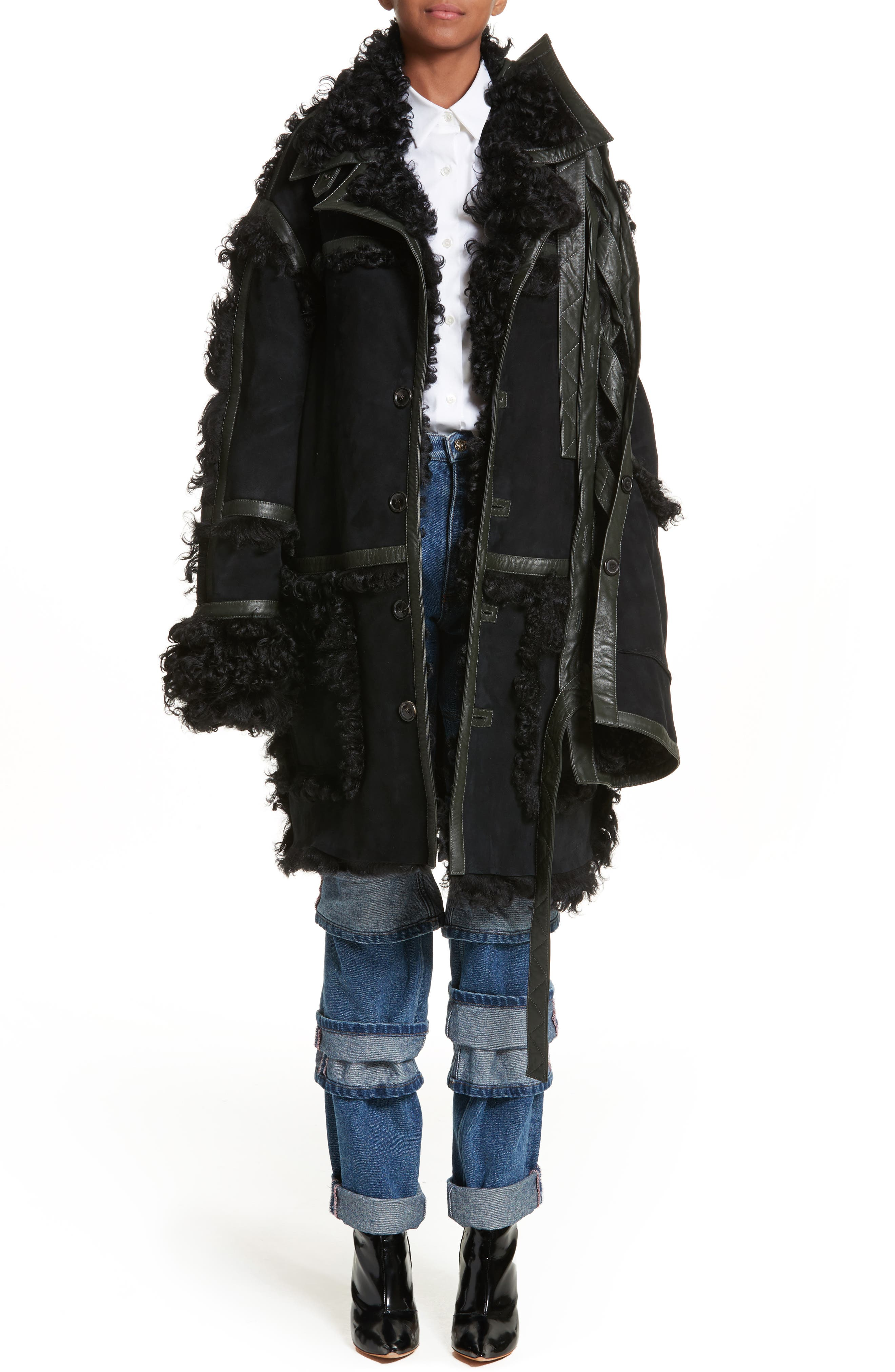Main Image - Y/PROJECT Genuine Shearling Coat