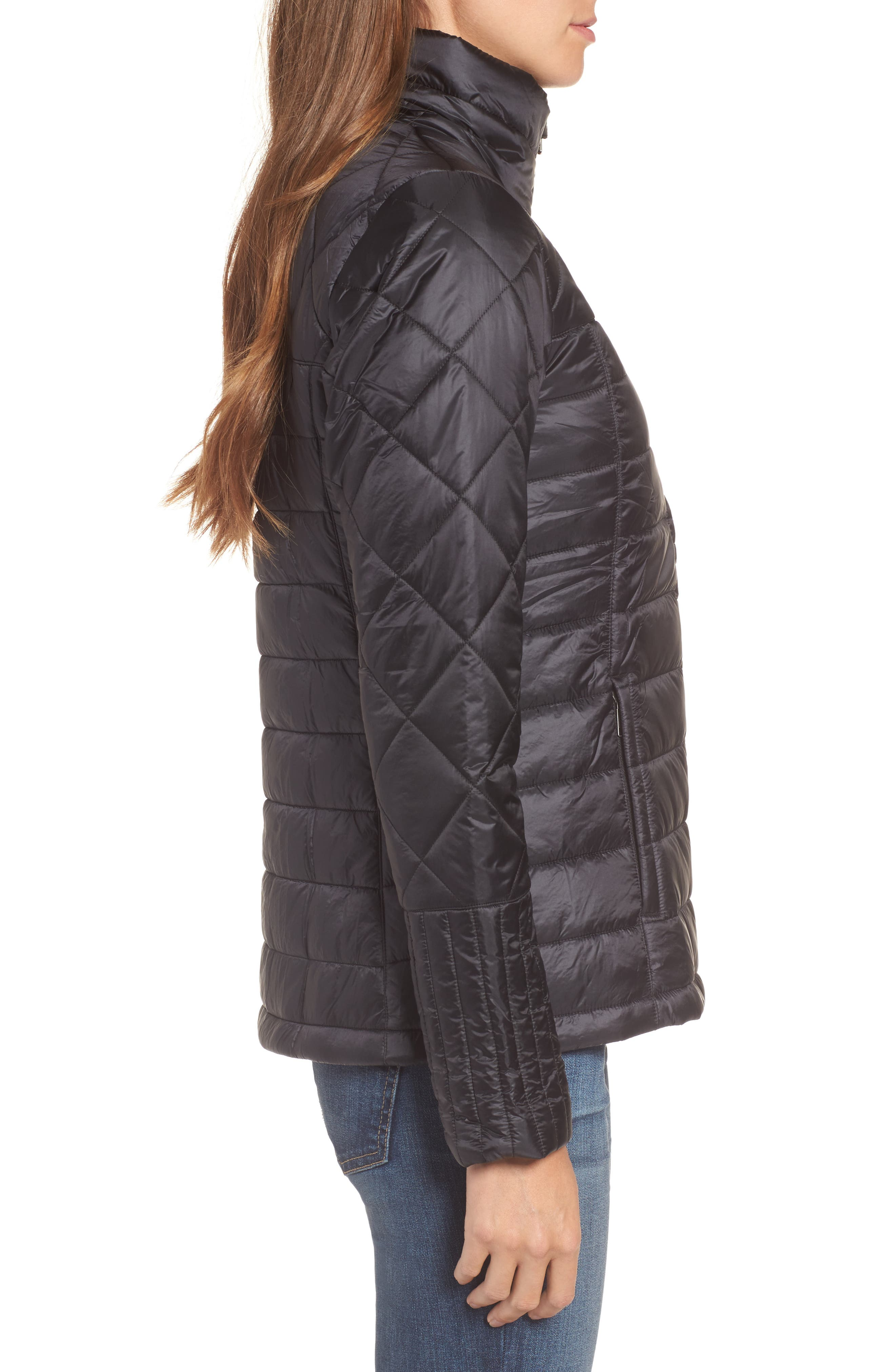Radalie Water Repellent Thermogreen-Insulated Jacket,                             Alternate thumbnail 3, color,                             Black