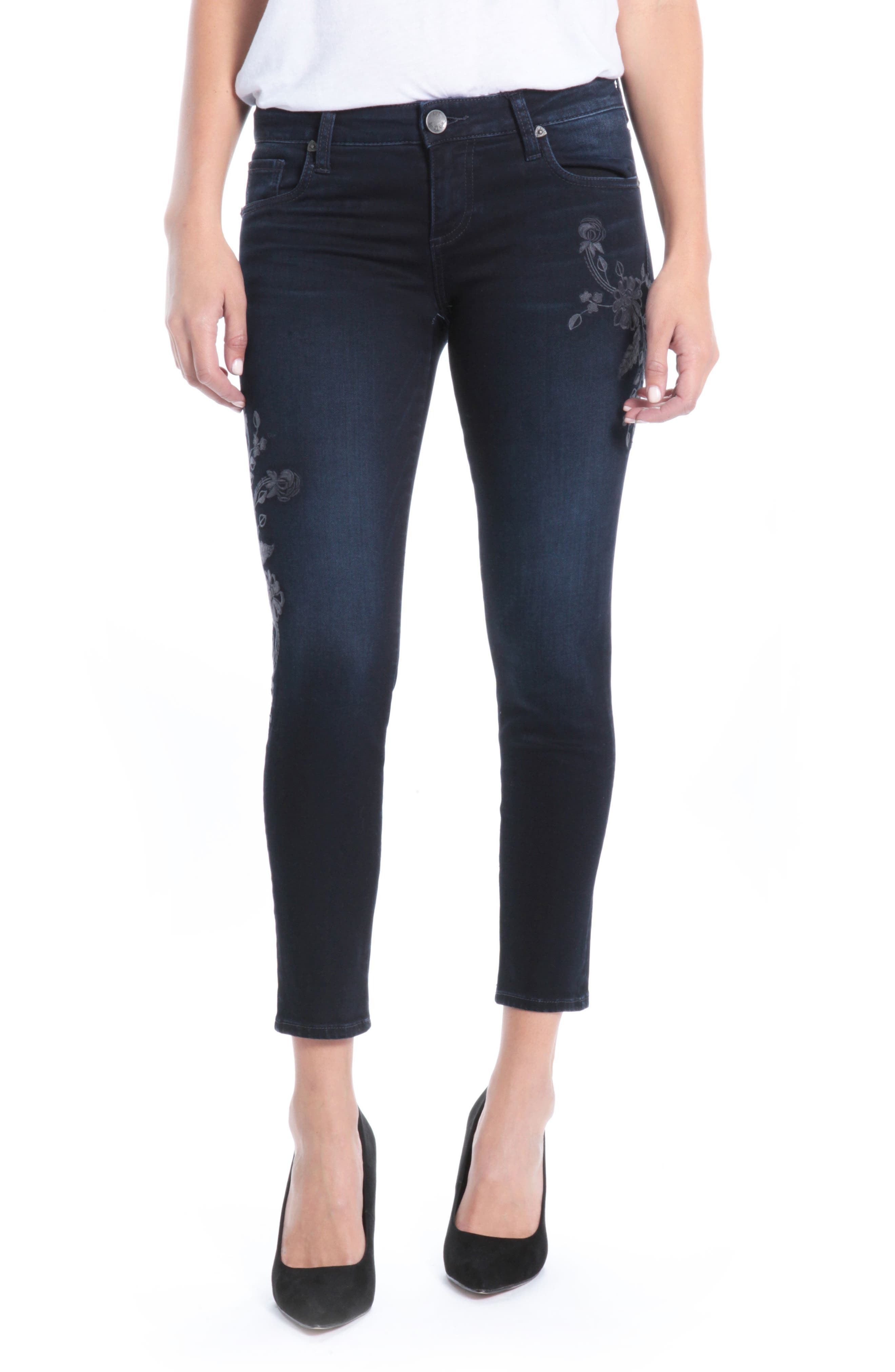 Kut from the Kloth Donna Ankle Skinny Jeans (Modeled)