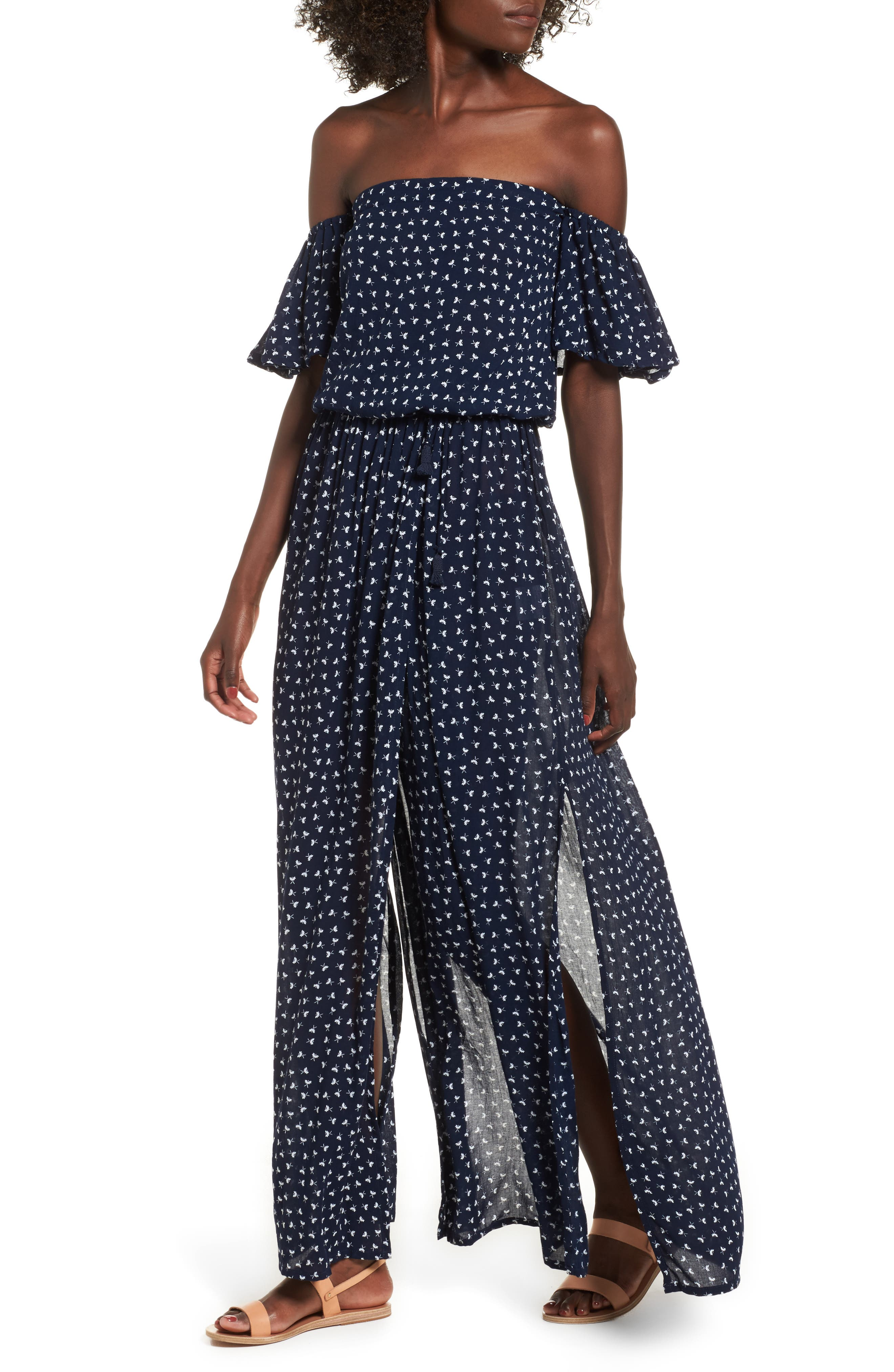 La Digue Off the Shoulder Maxi Dress,                         Main,                         color, Cosette Floral Print