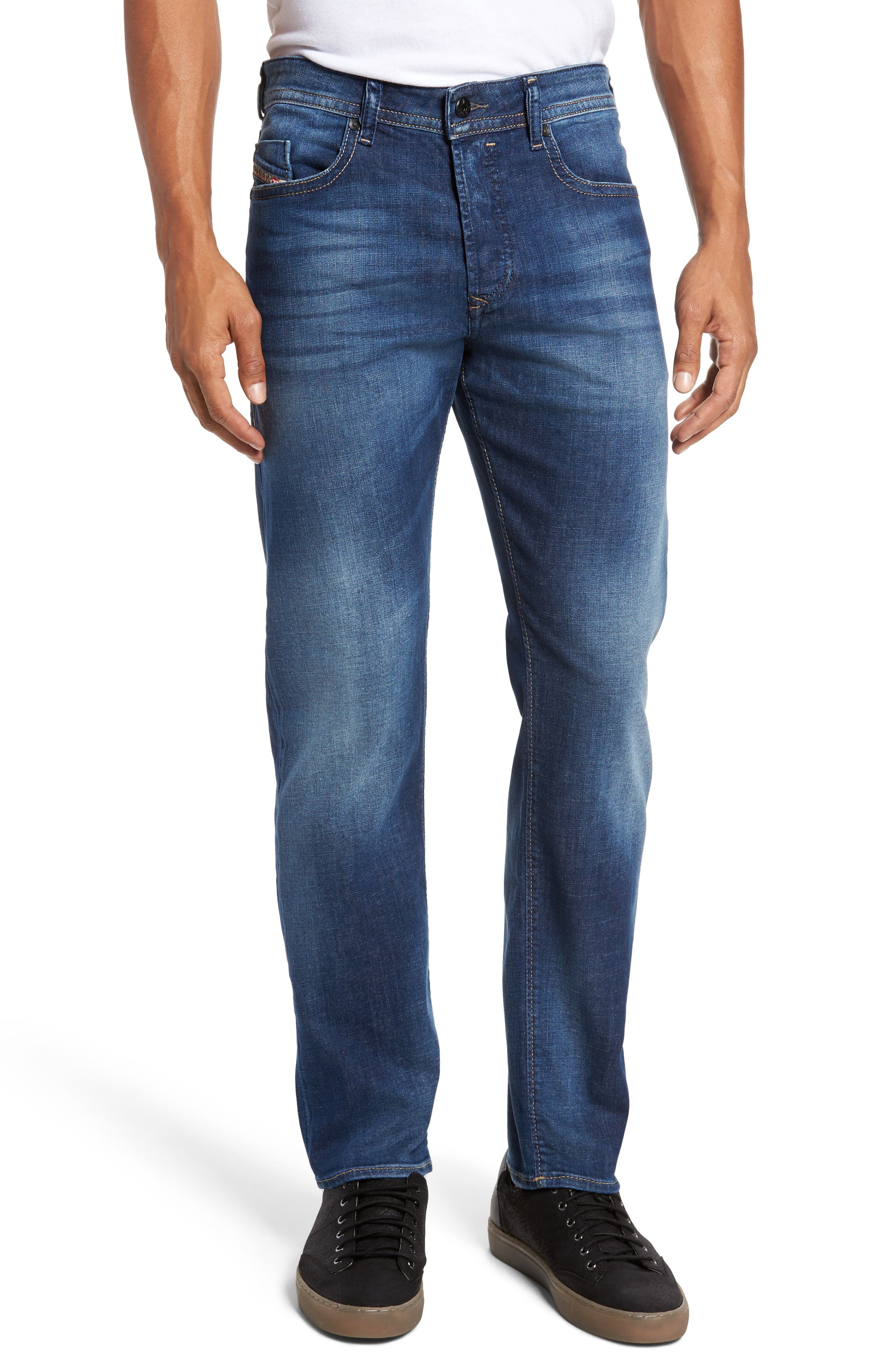 Alternate Image 1 Selected - DIESEL® Buster Slim Straight Leg Jeans (084GR)