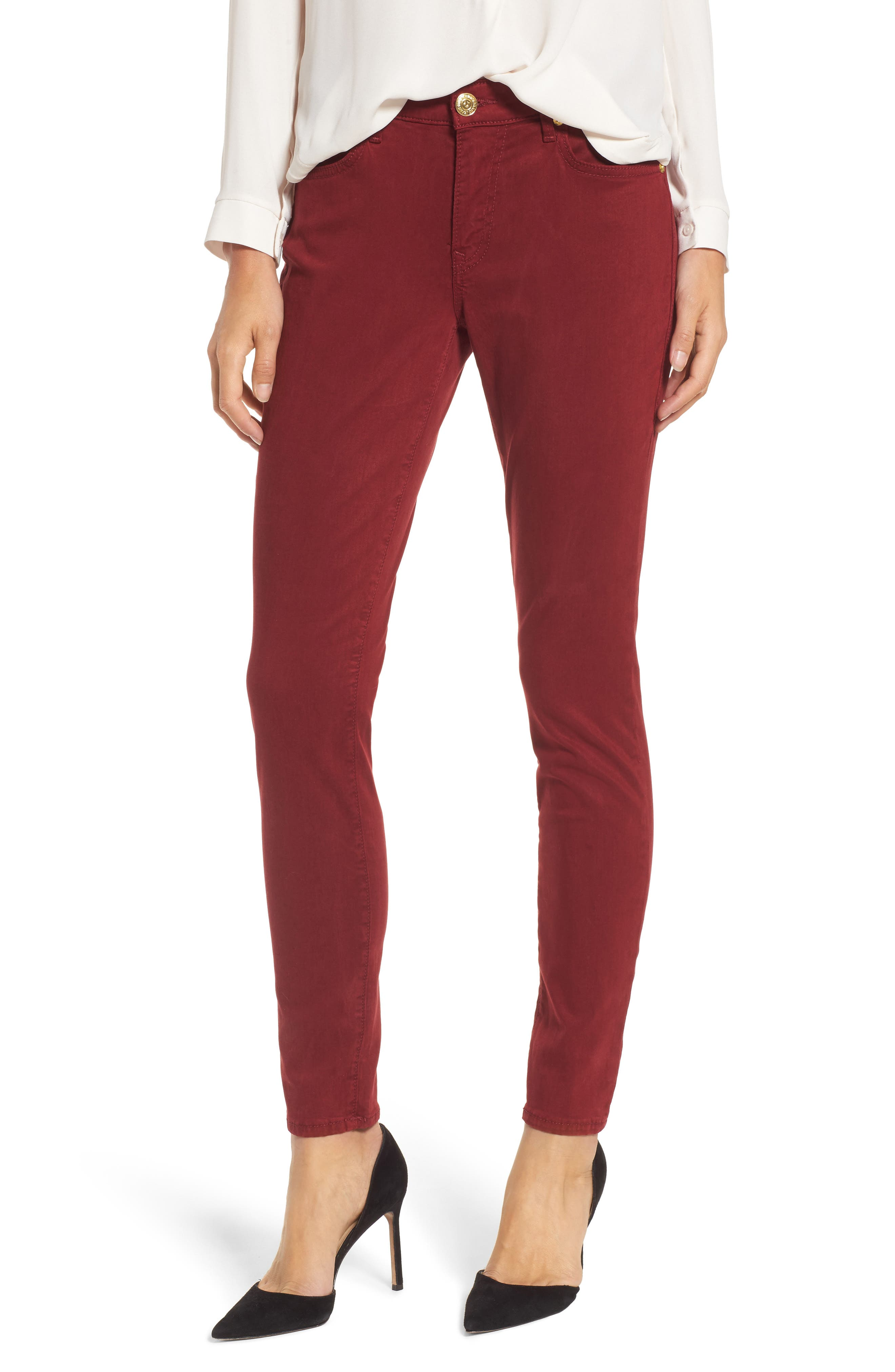 Jennie Curvy Skinny Jeans,                             Main thumbnail 1, color,                             Ox Blood