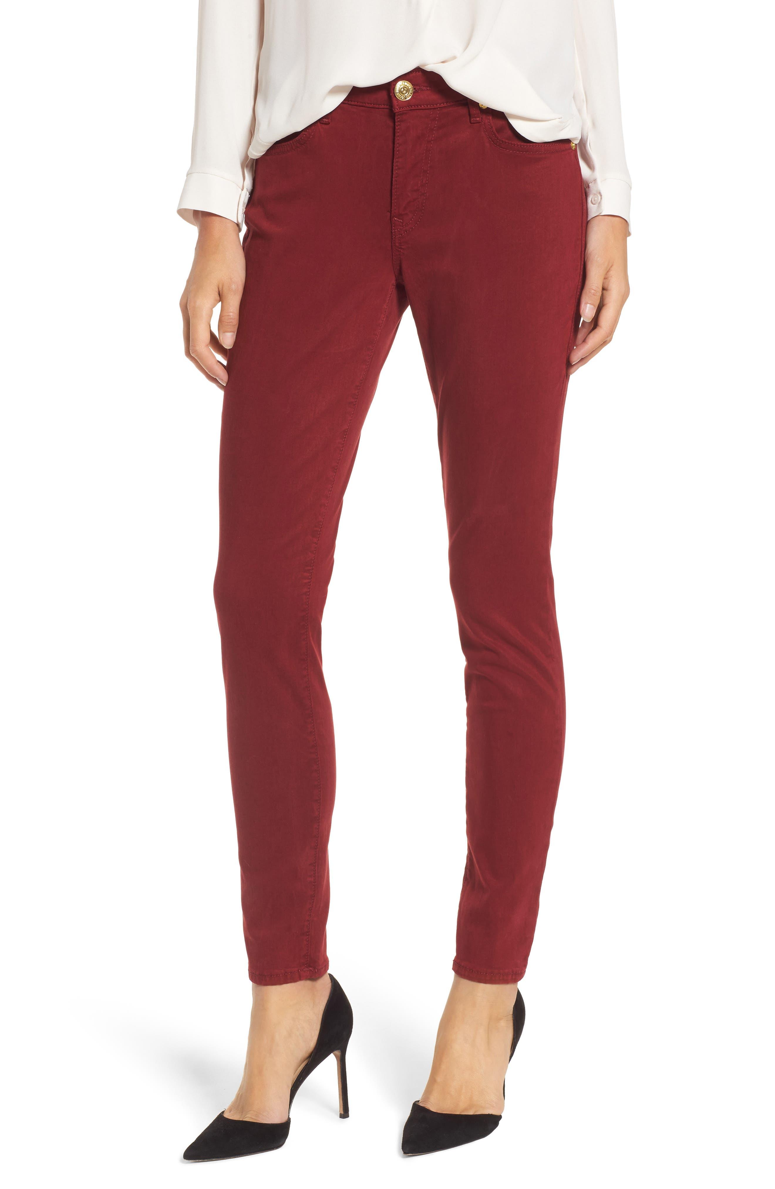 Main Image - True Religion Brand Jeans Jennie Curvy Skinny Jeans (Ox Blood)