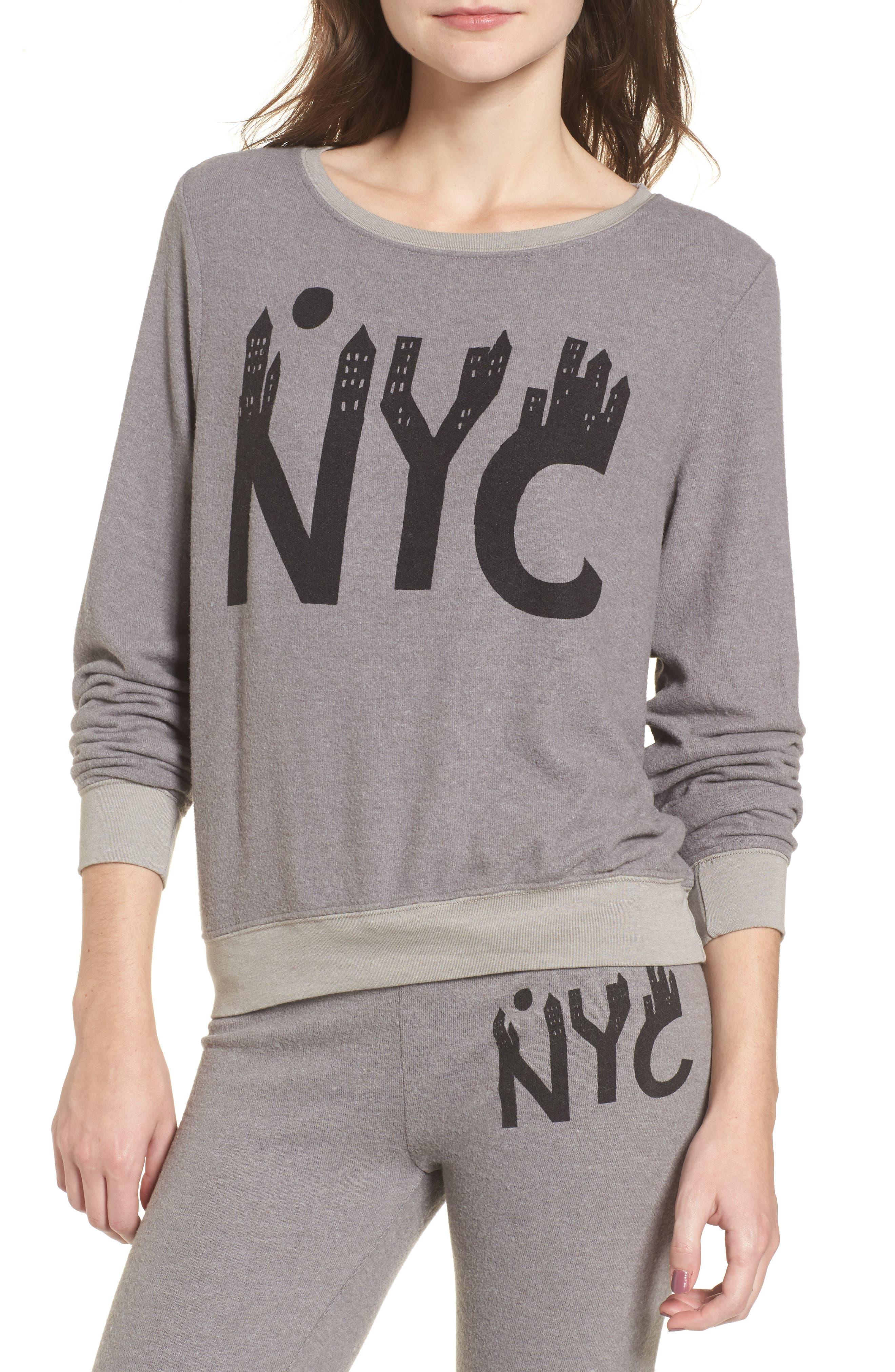 NYC Sweatshirt,                         Main,                         color, Vintage Grey
