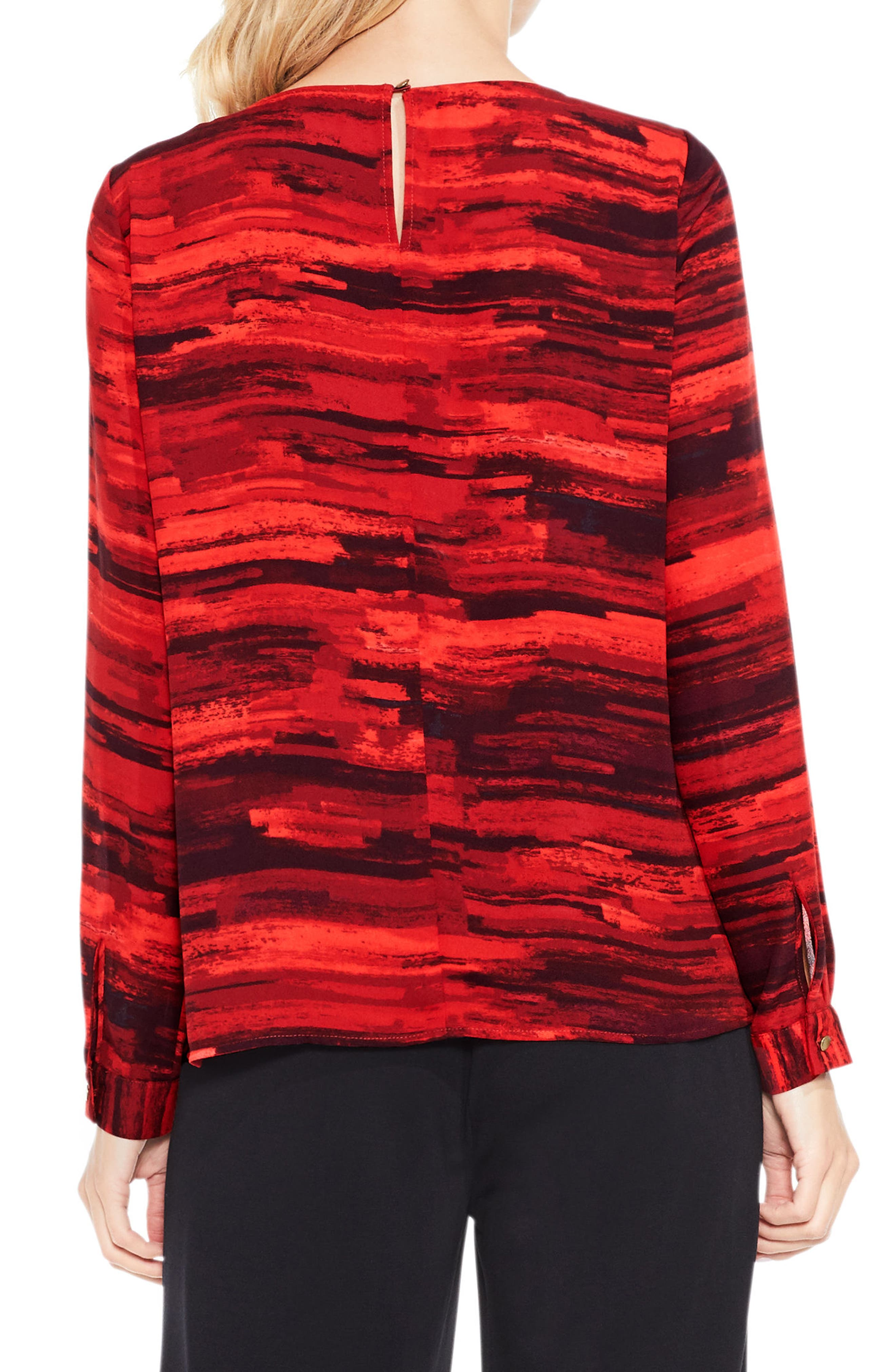 Alternate Image 2  - Vince Camuto Muses Print Tiered Blouse