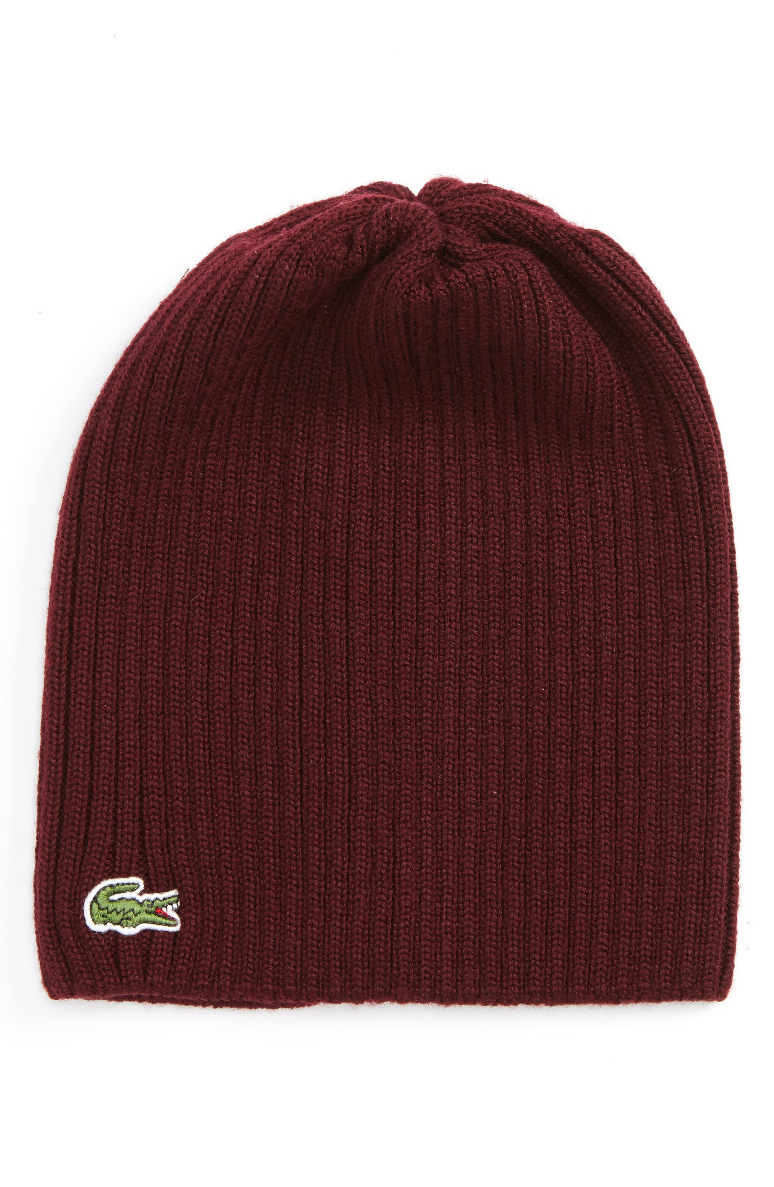 Alternate Image 1 Selected - Lacoste Rib Knit Wool Beanie