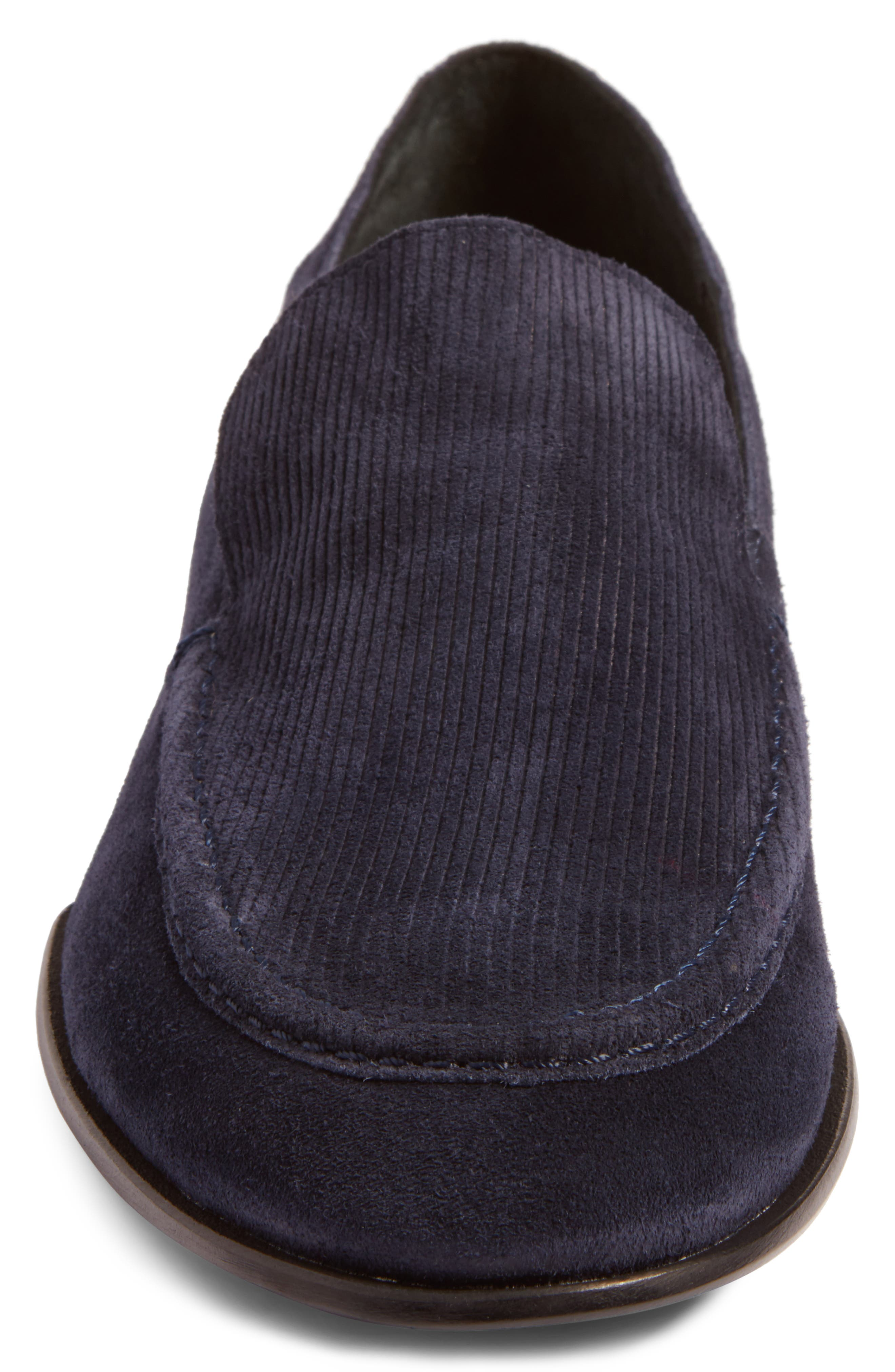 Alix Convertible Loafer,                             Alternate thumbnail 5, color,                             Navy Suede