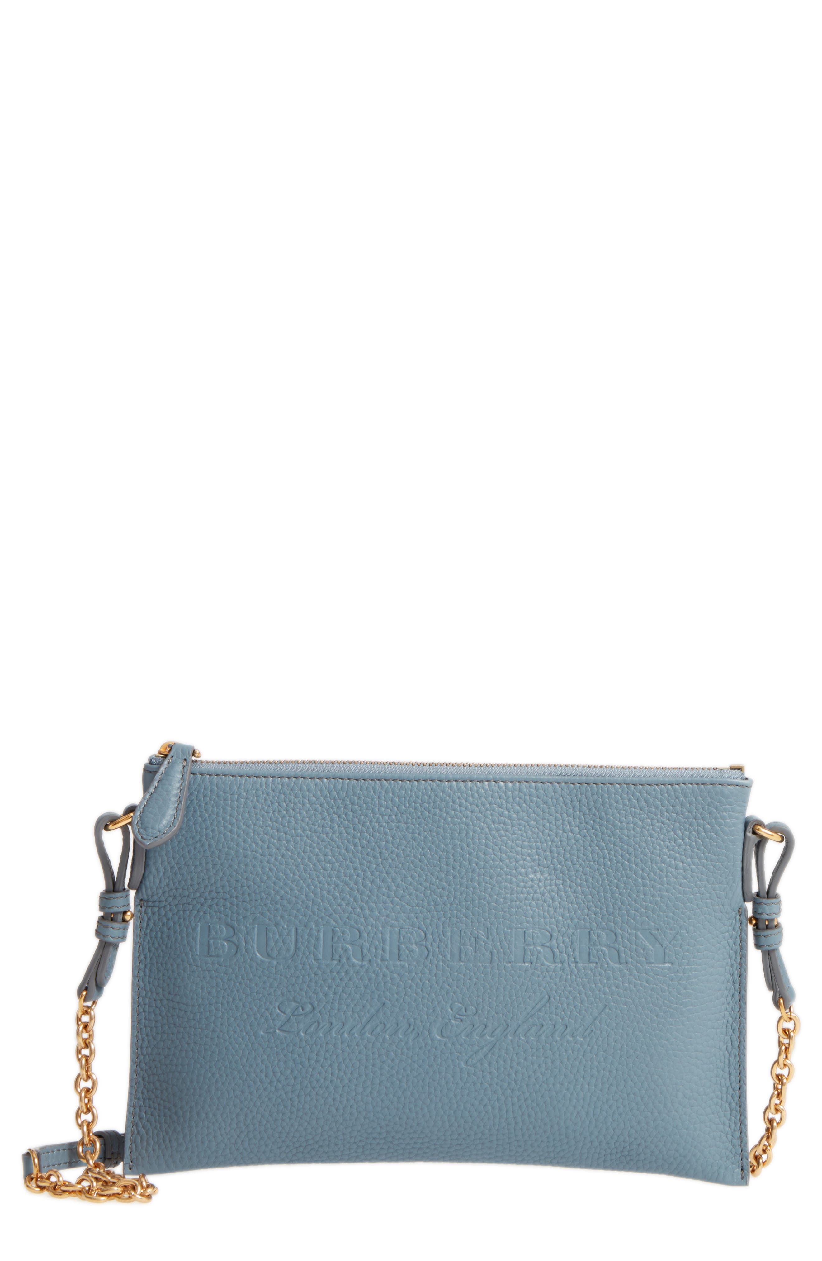 Peyton Leather Crossbody Bag,                         Main,                         color, Dusty Teal Blue