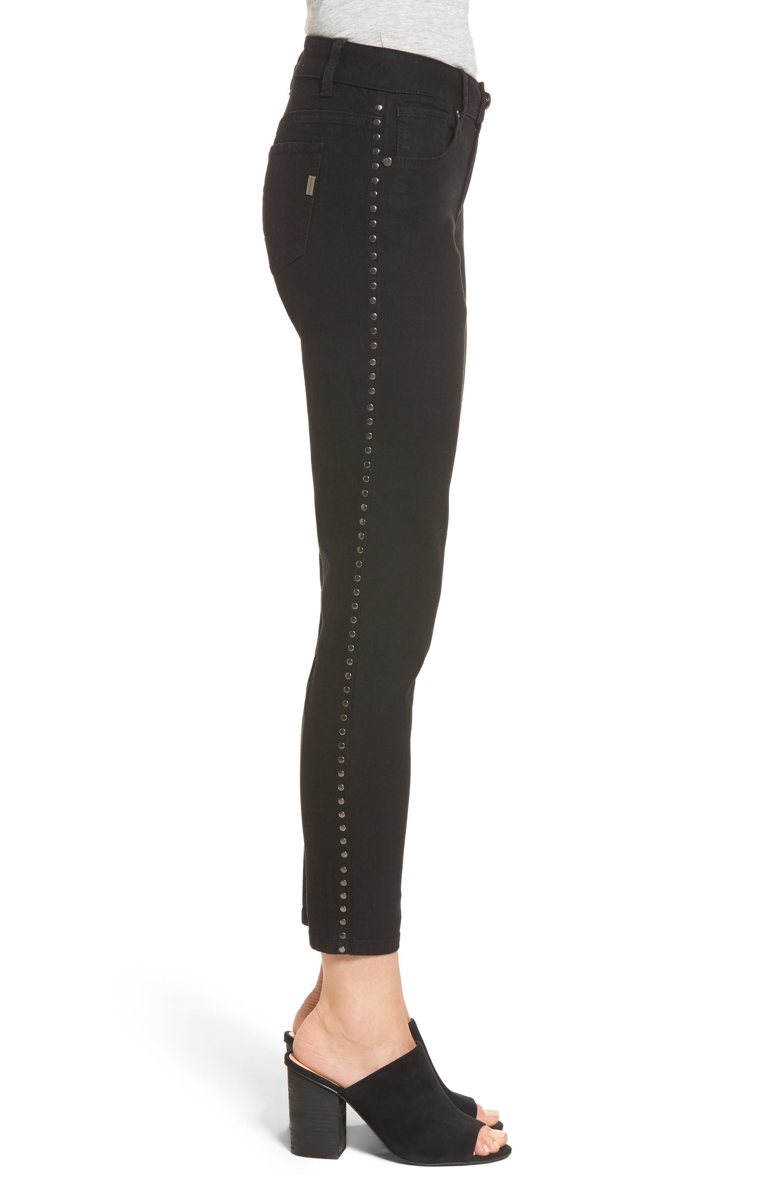 Alternate Image 3  - 1822 Denim Studded Skinny Jeans