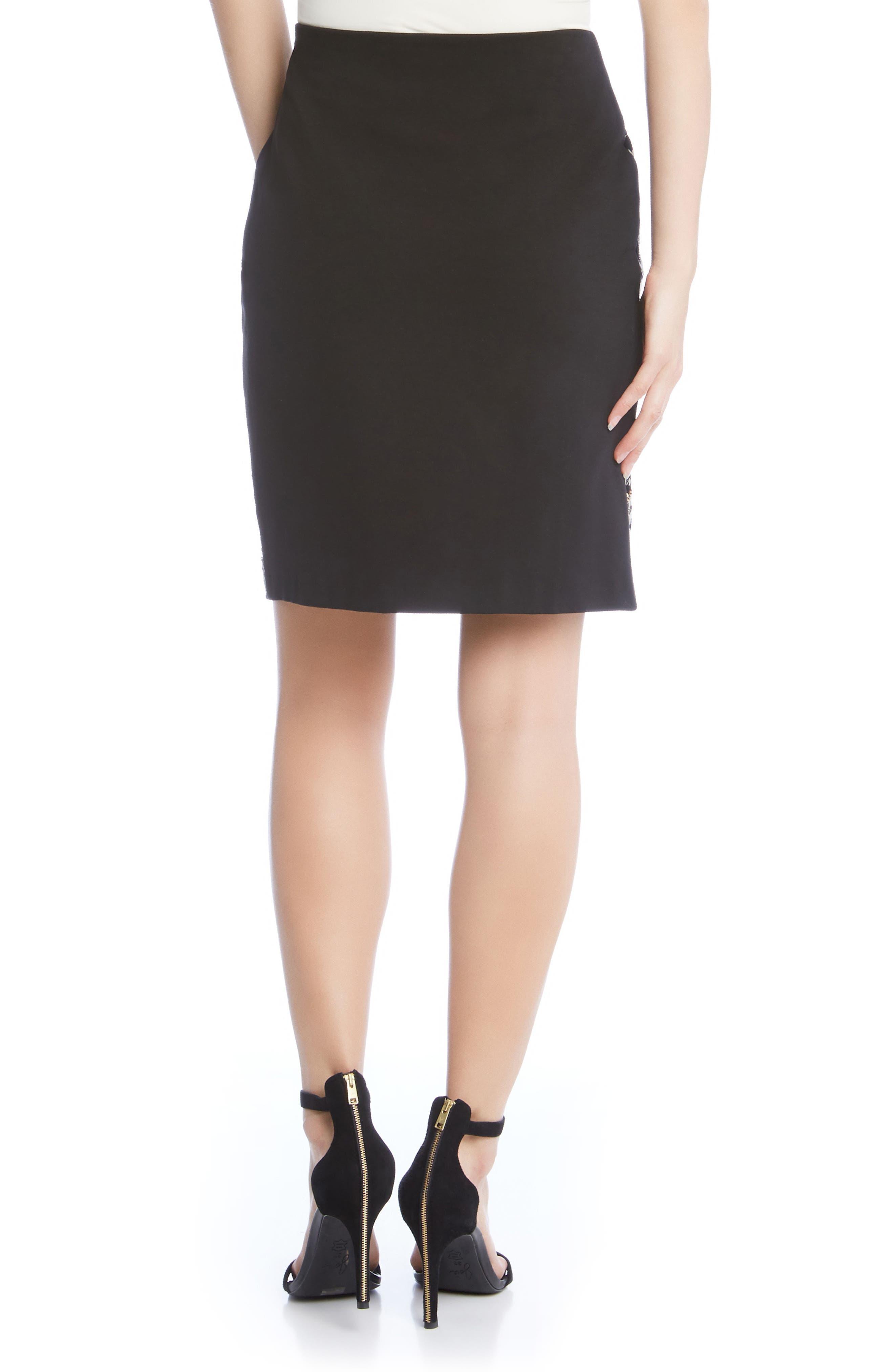 Alternate Image 2  - Karen Kane Front Sequin Skirt
