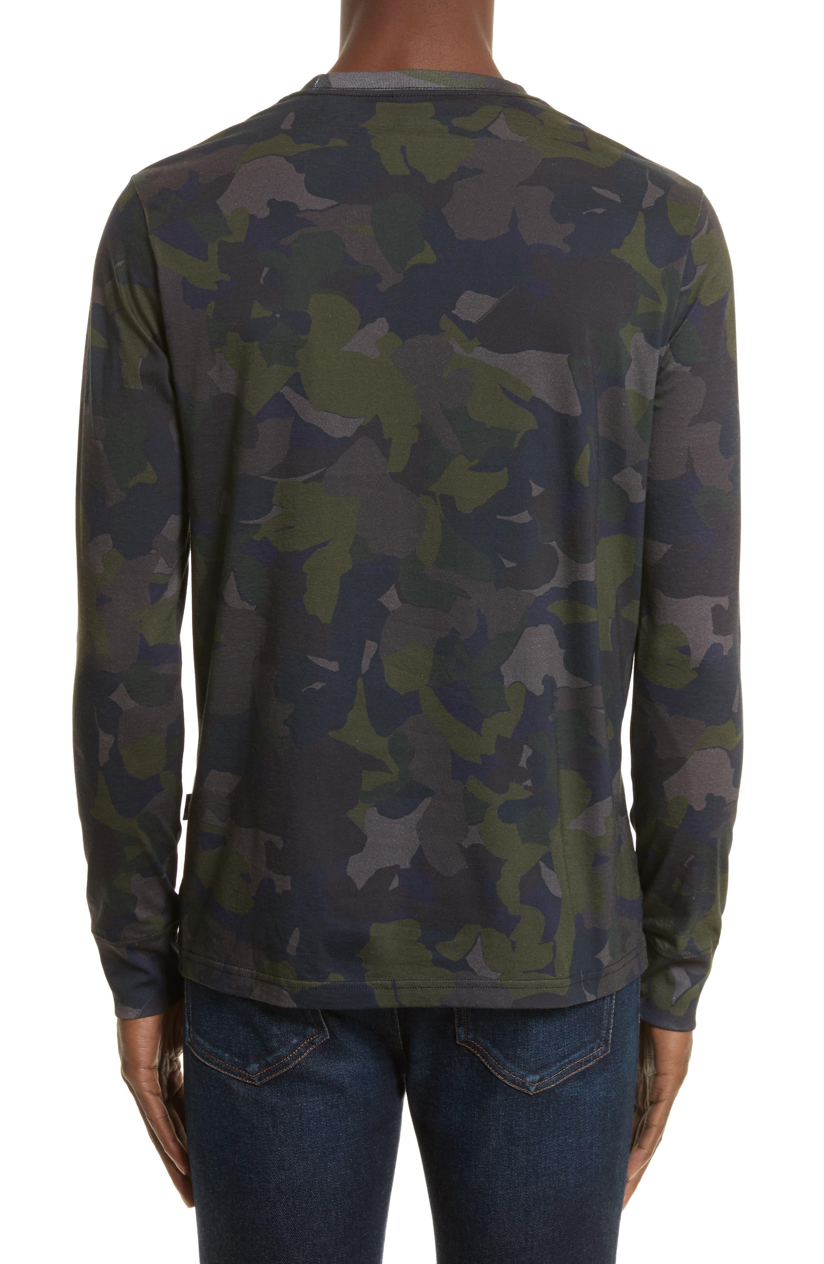 Camo Long Sleeve T-Shirt,                             Alternate thumbnail 2, color,                             Green