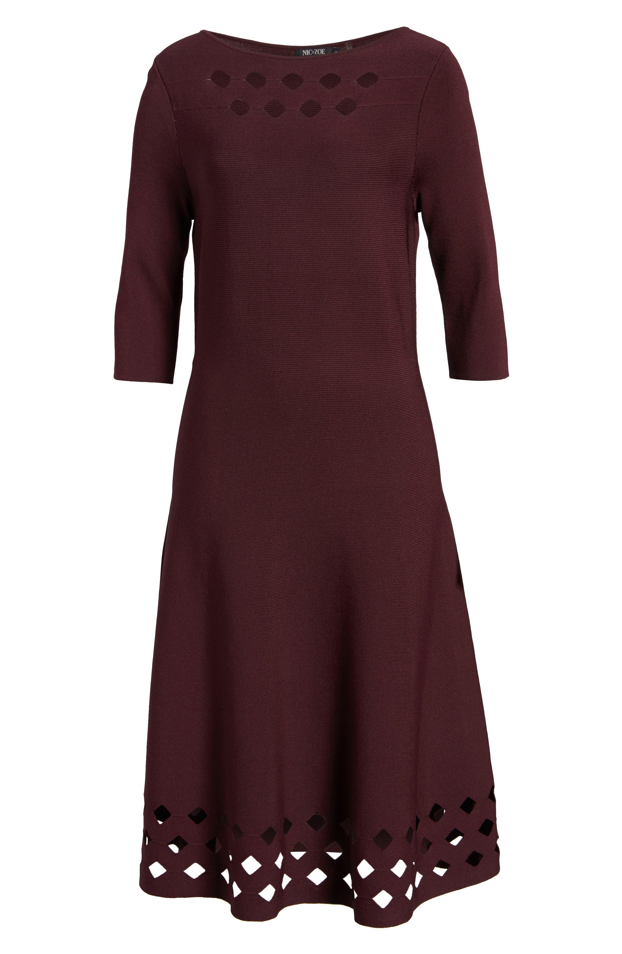 Alternate Image 6  - NIC+ZOE Time Out Twirl Midi Dress (Regular & Petite)