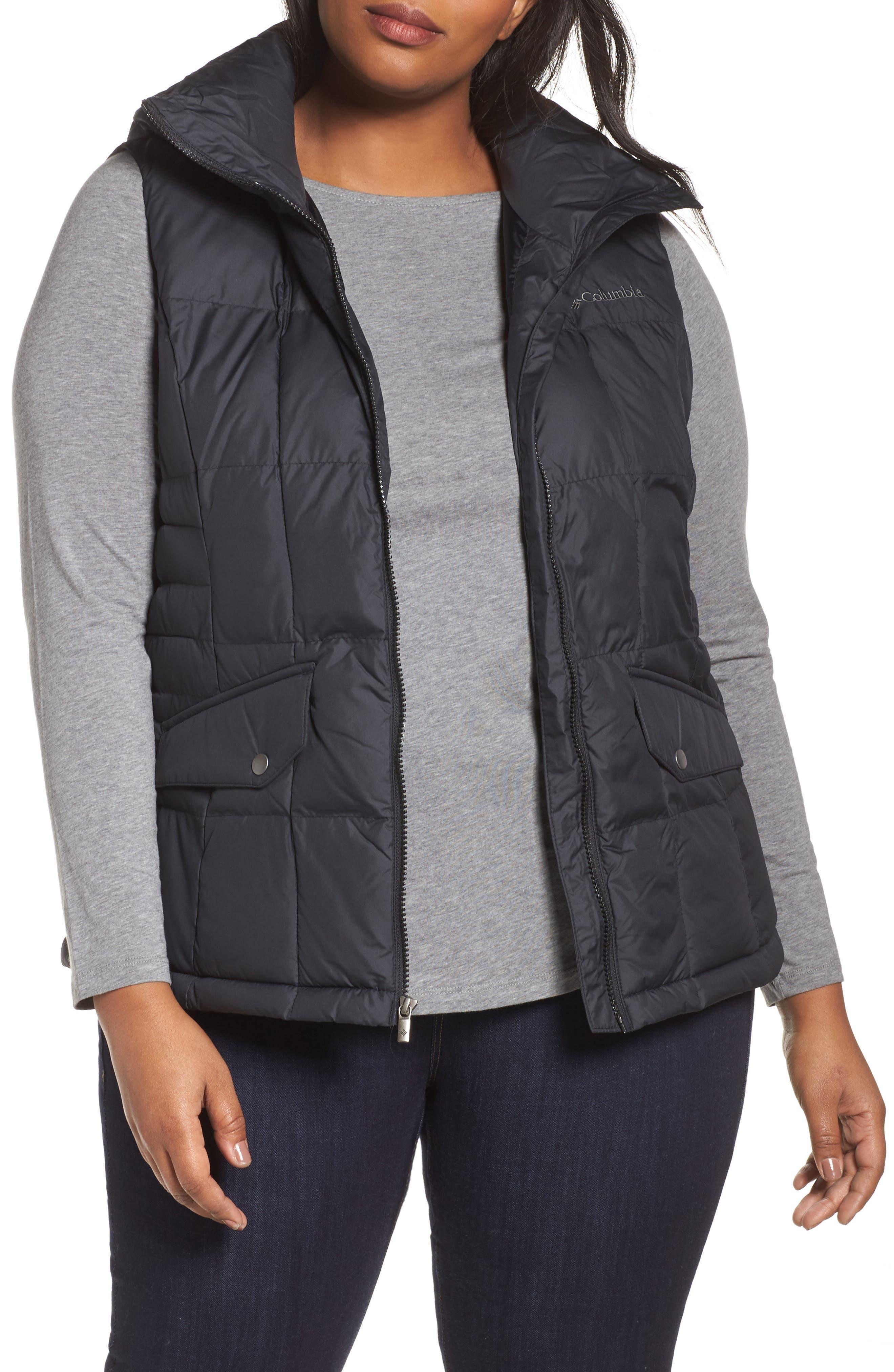 Lone Creek Puffer Vest,                         Main,                         color, Black
