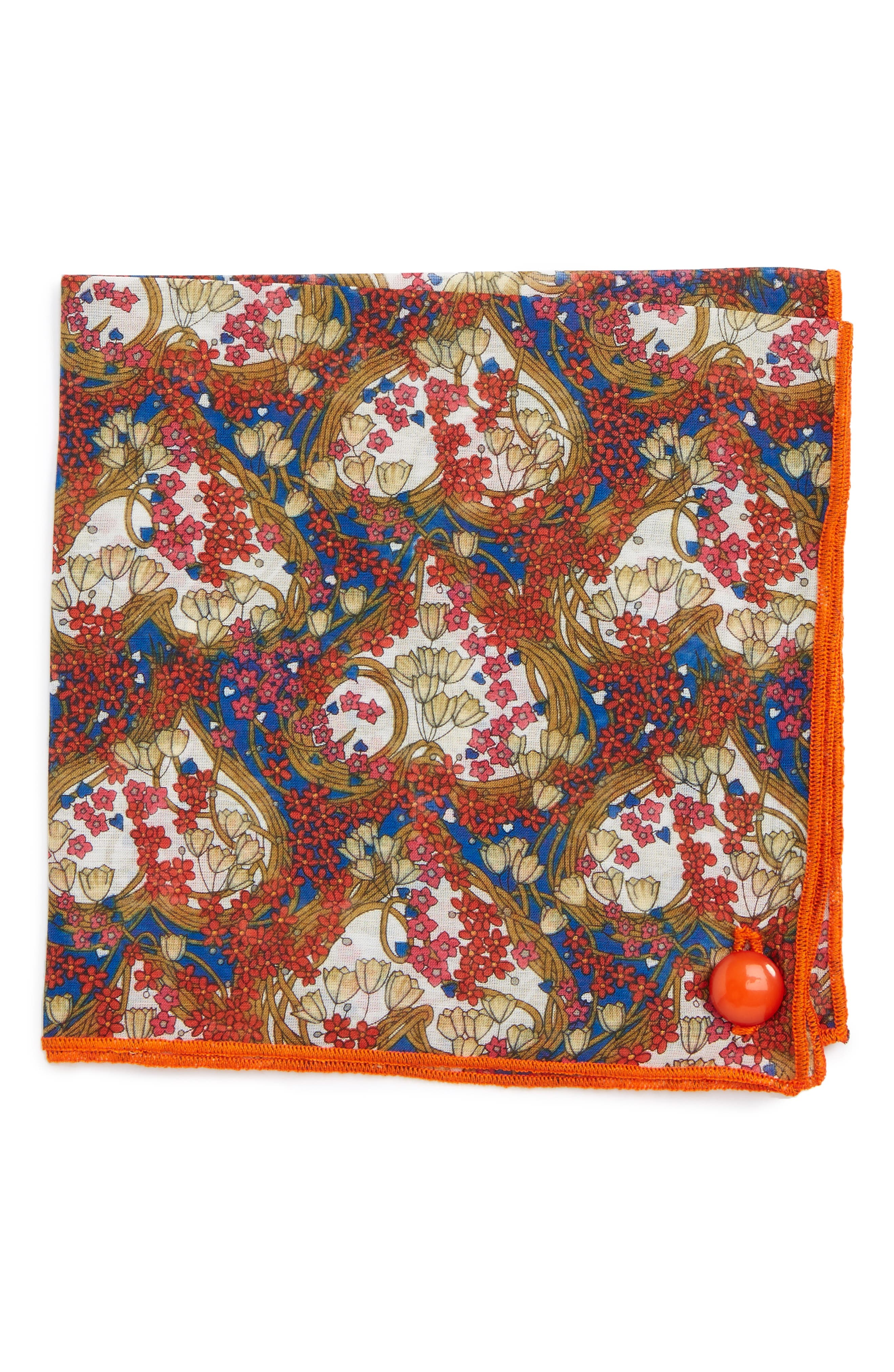 Alternate Image 1 Selected - Armstrong & Wilson Paisley Scott Cotton Pocket Square