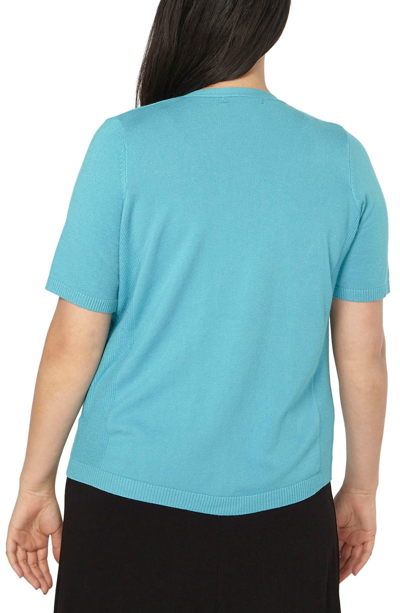 Alternate Image 2  - Evans Tab Pocket Cardigan (Plus Size)