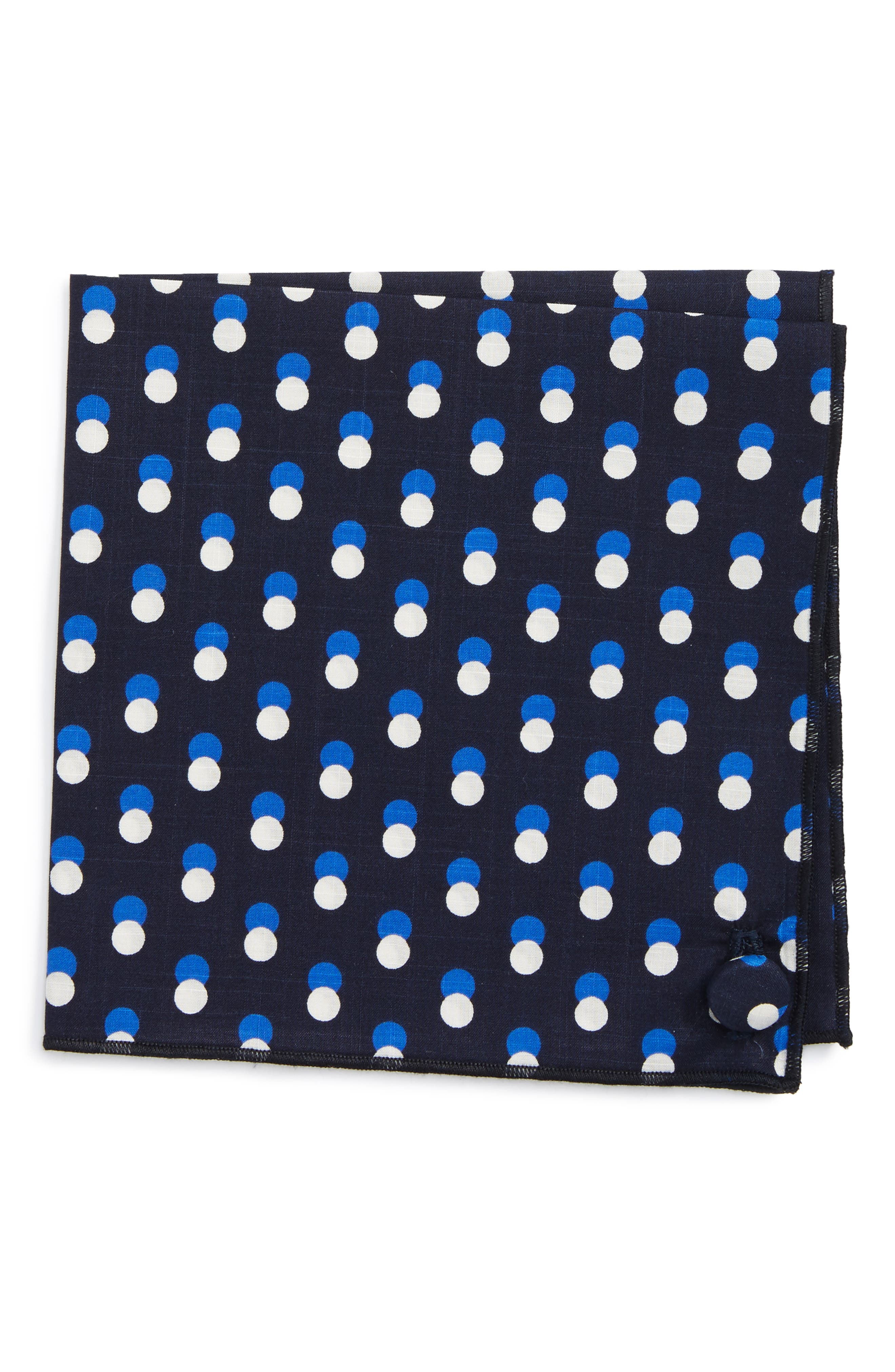 Main Image - Armstrong & Wilson Multi Dots Cotton Pocket Square