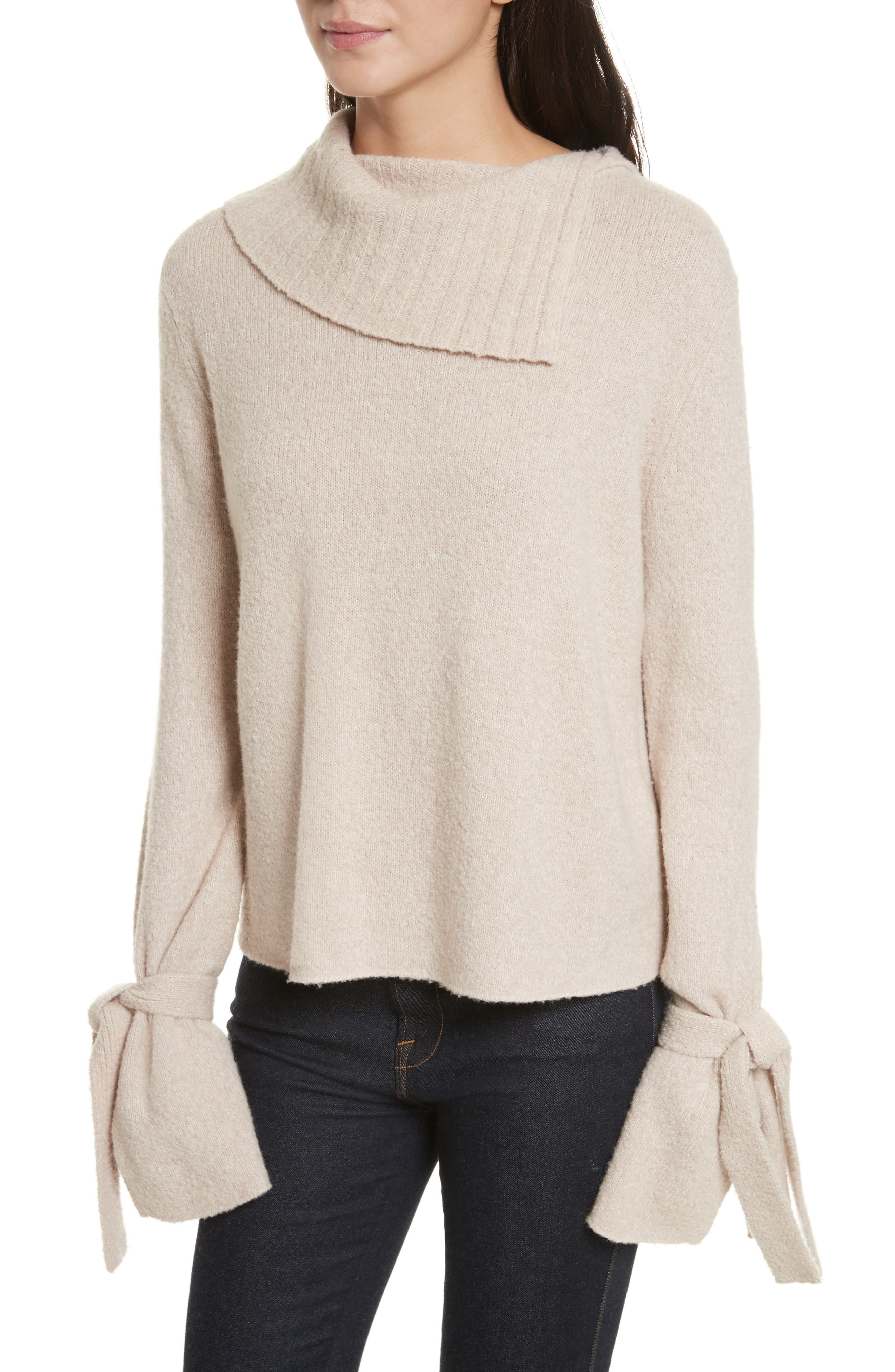 Agna Tie Sleeve Pullover,                         Main,                         color, Behr Combo