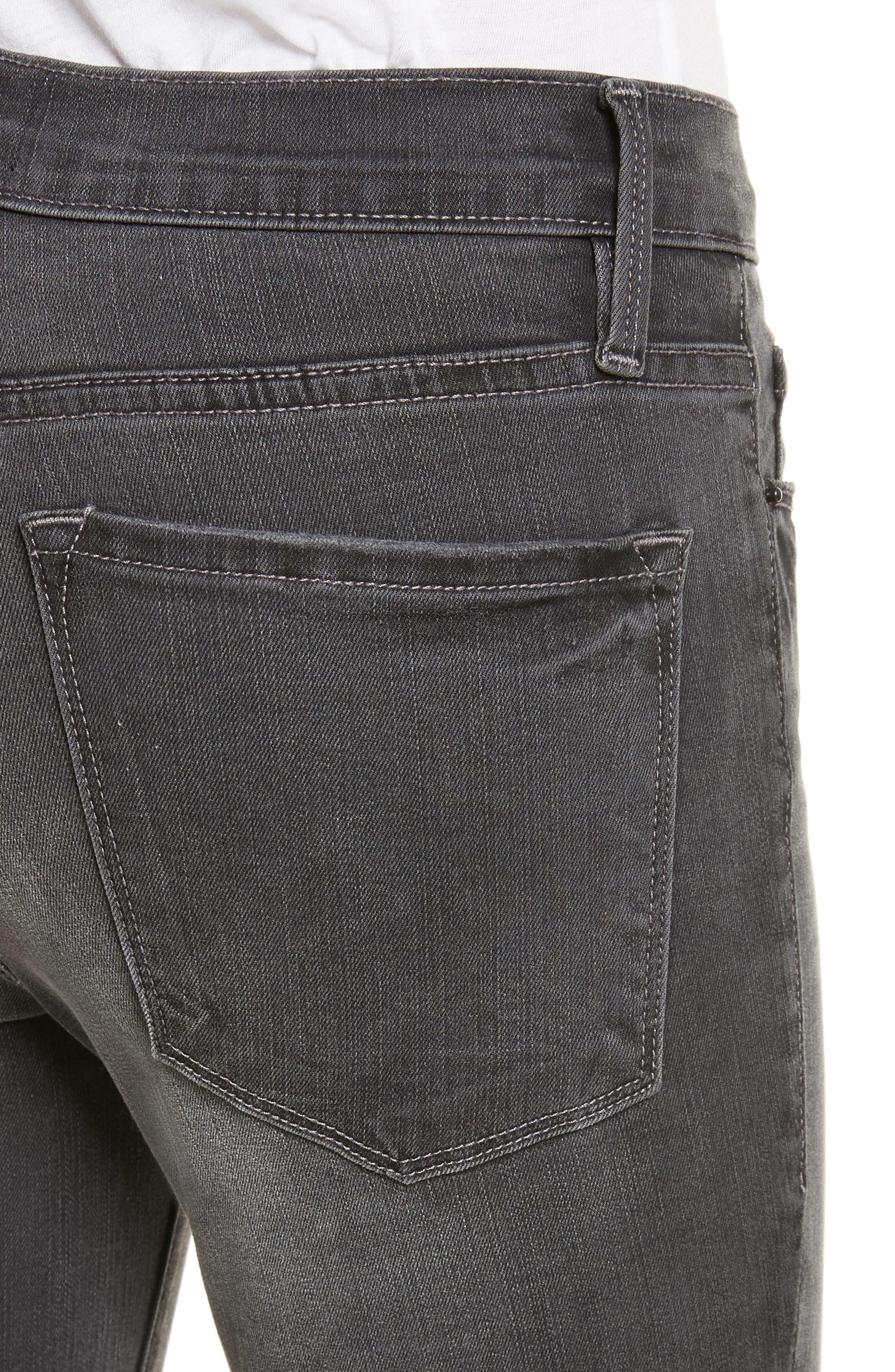 Le Skinny de Jeanne Ankle Jeans,                             Alternate thumbnail 4, color,                             Harlow