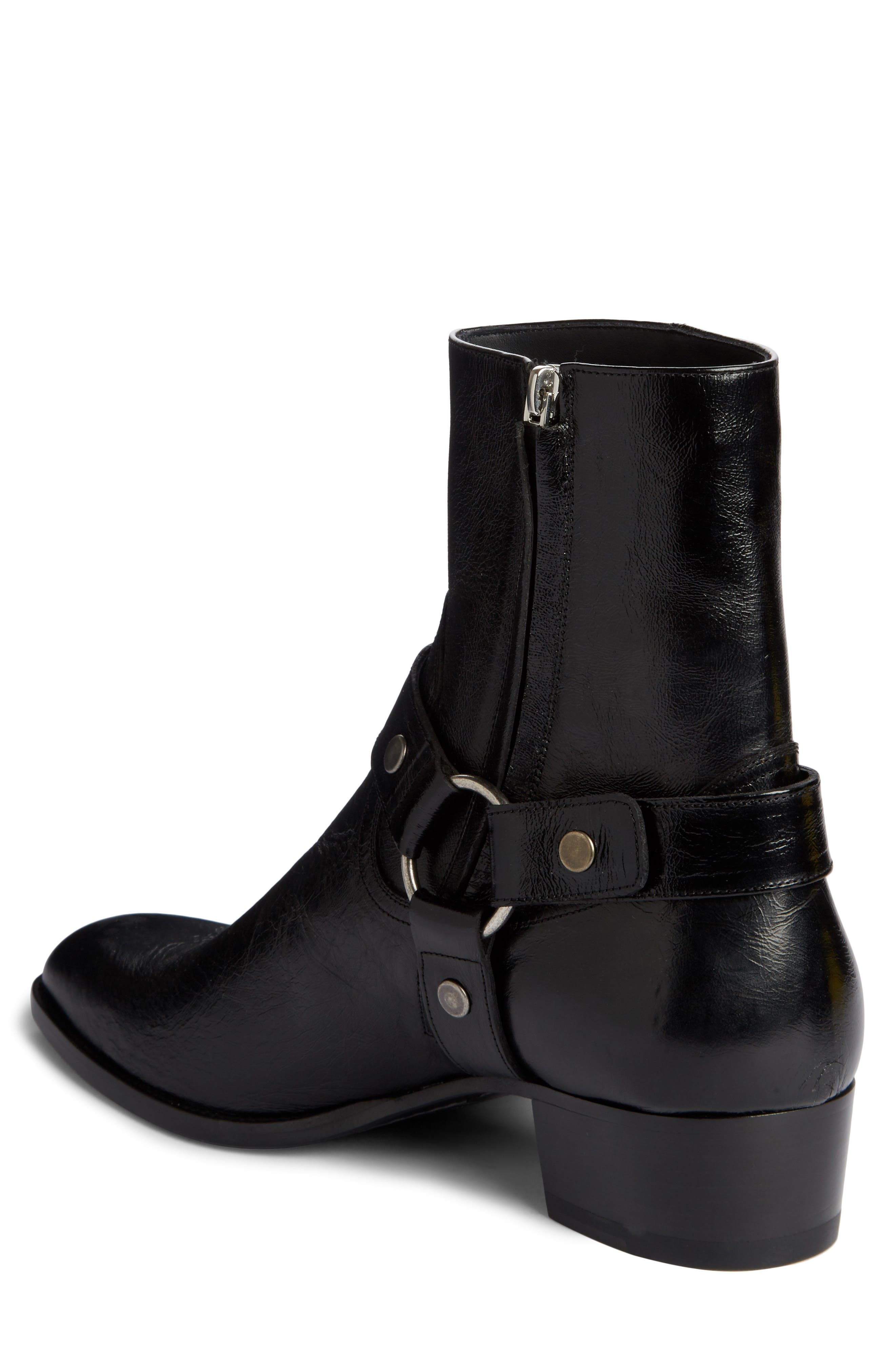 Wyatt Harness Boot,                             Alternate thumbnail 2, color,                             Black Leather