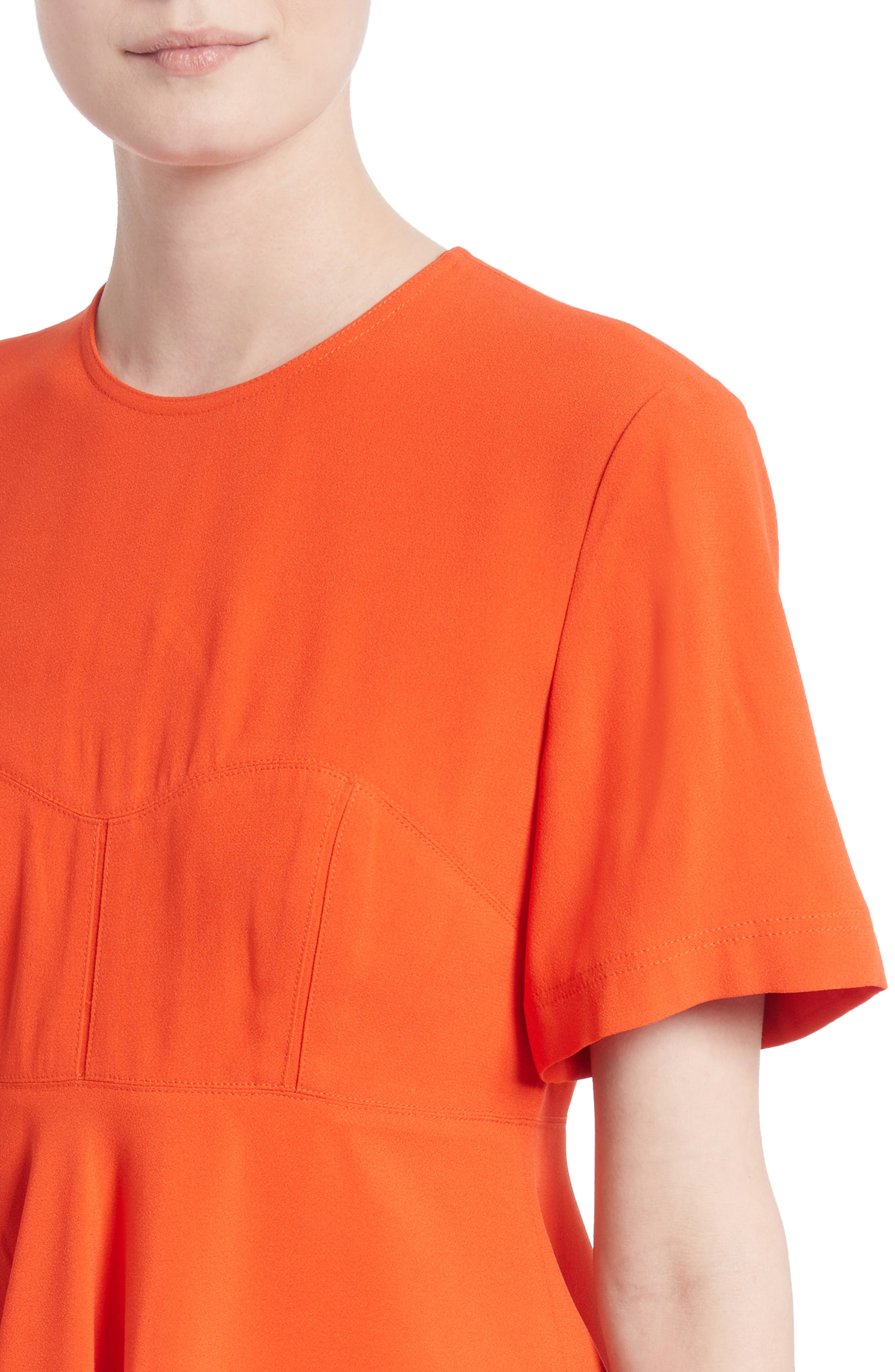 Satin Back Crepe Top,                             Alternate thumbnail 4, color,                             Coral