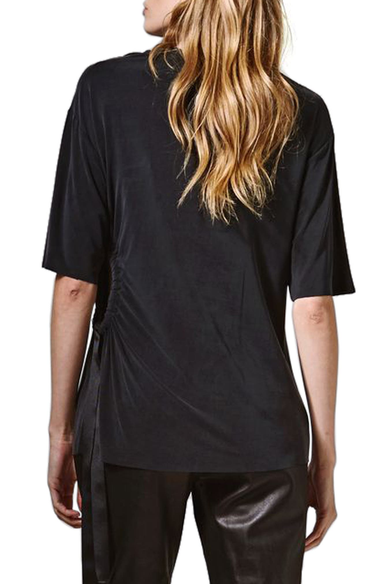 Alternate Image 3  - Topshop Boutique Ruched Cutout Tee