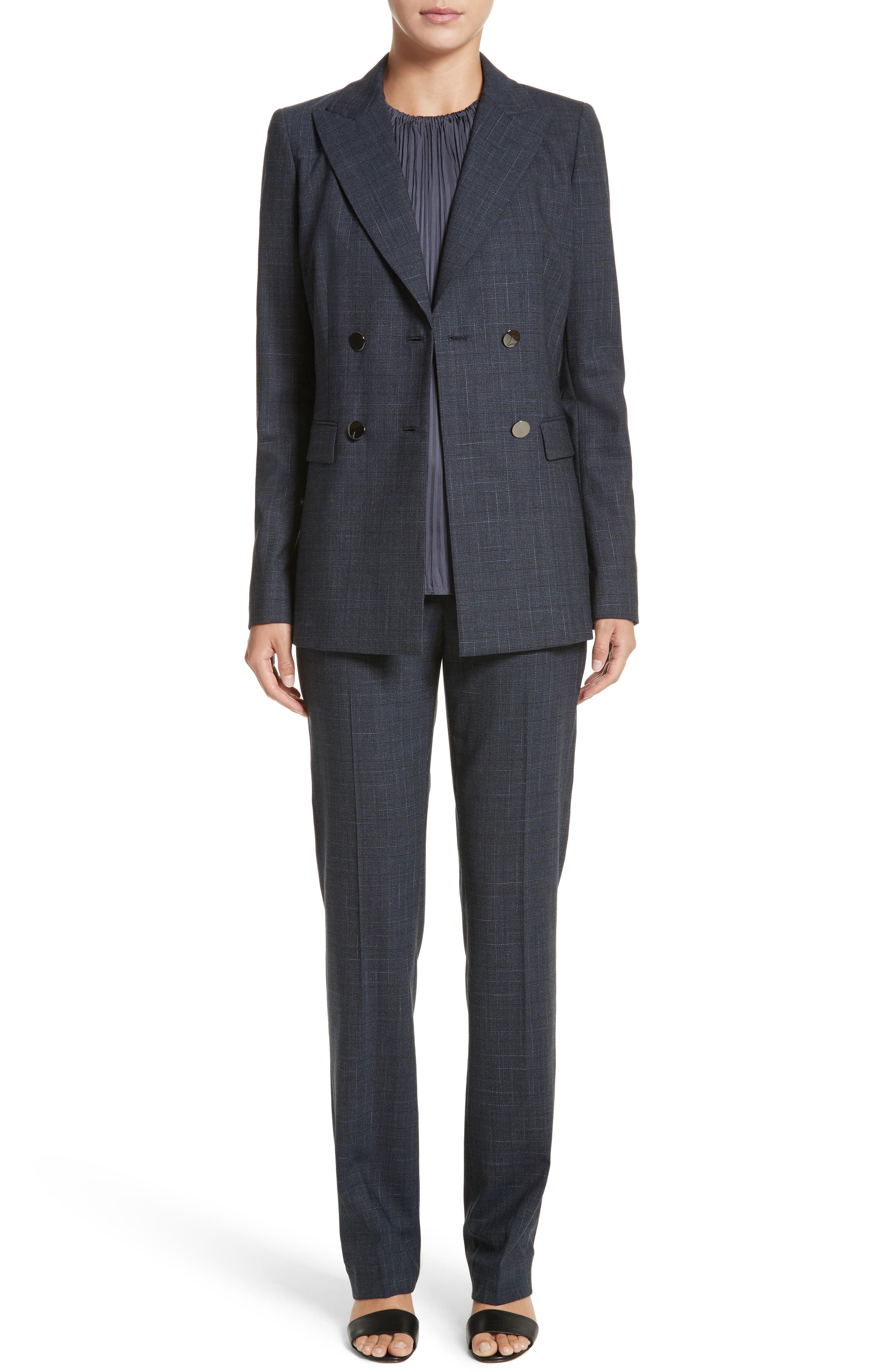 Alternate Image 7  - Lafayette 148 New York Renee Double Breasted Blazer