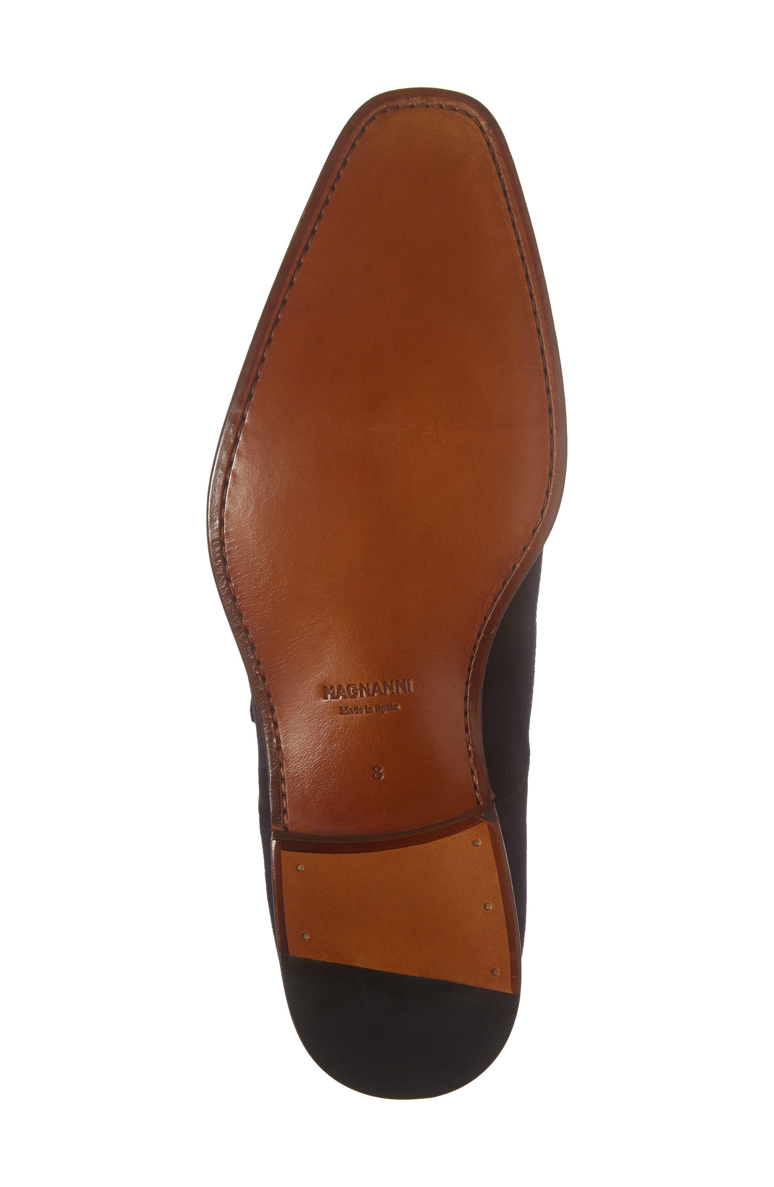 Enrique Monk Strap Shoe,                             Alternate thumbnail 6, color,                             Navy Suede