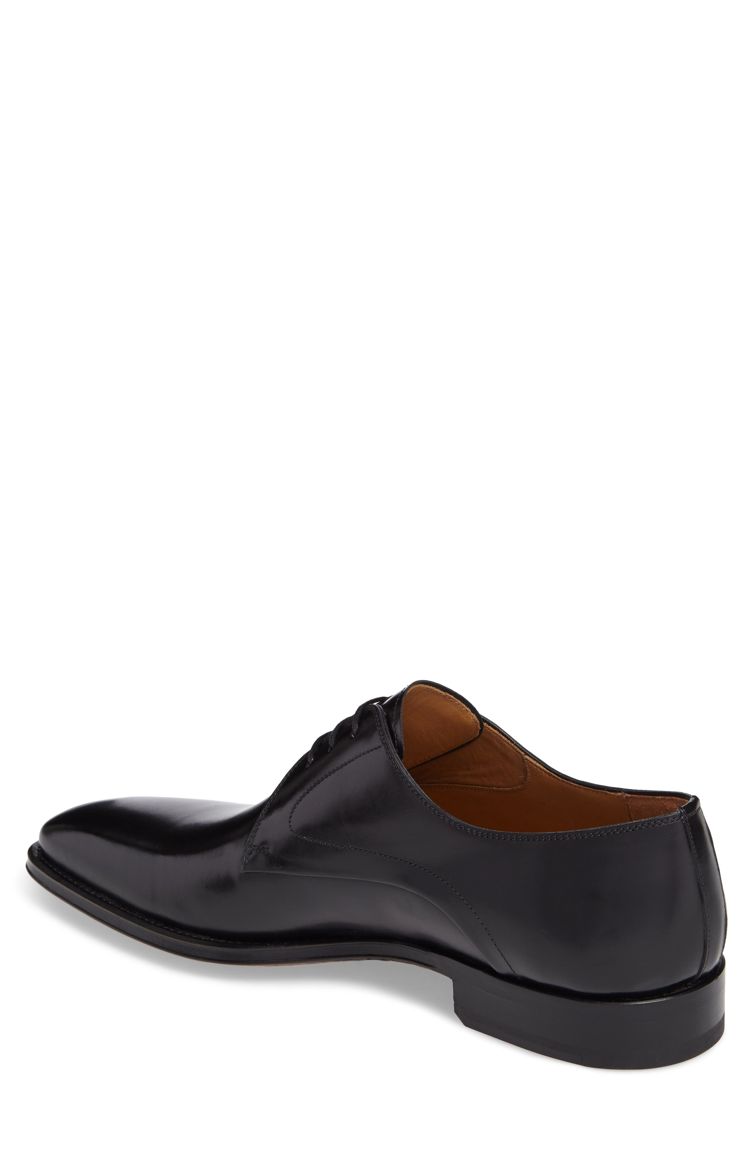 Mario Plain Toe Derby,                             Alternate thumbnail 2, color,                             Black Leather
