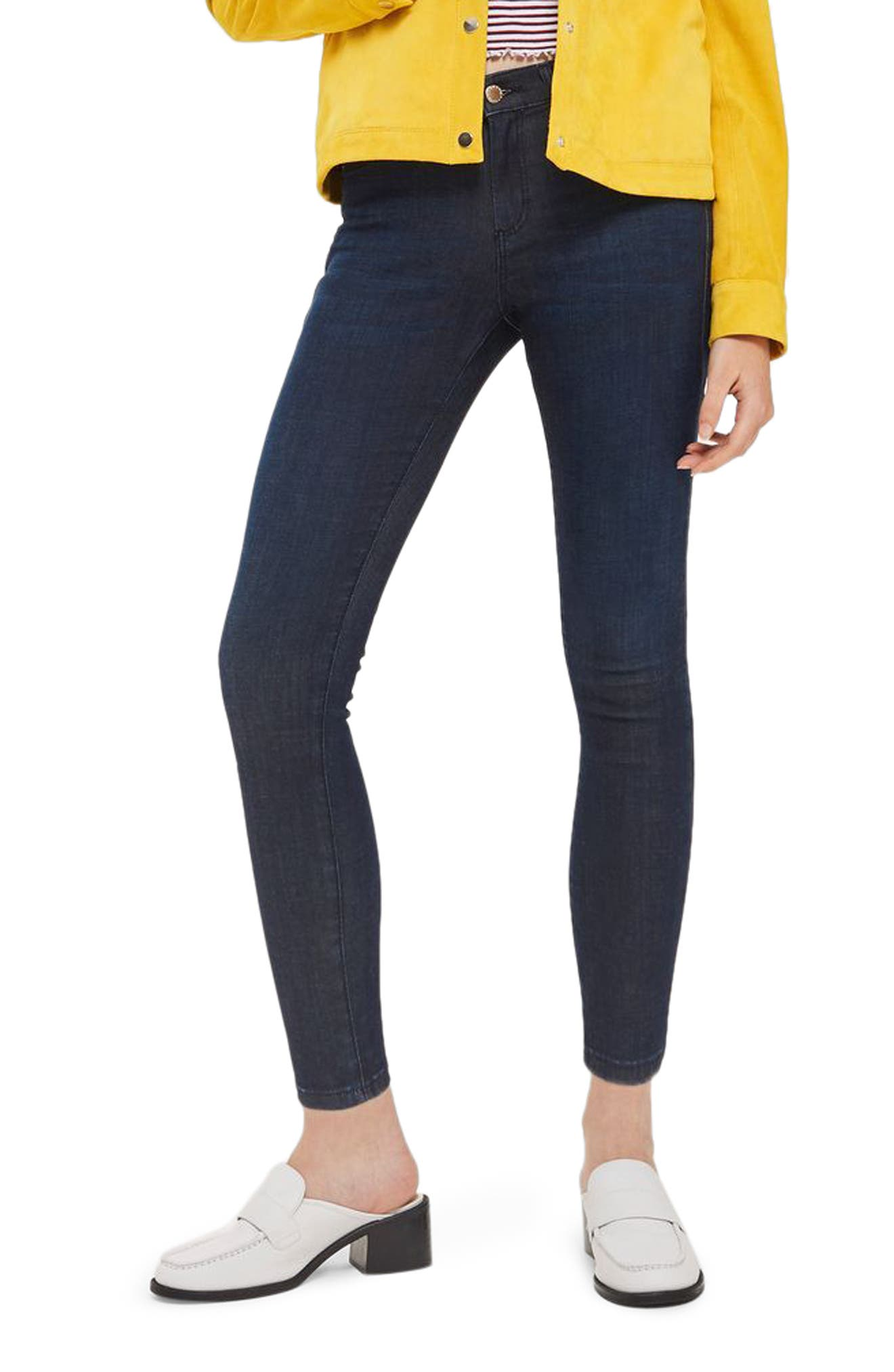 Leigh Skinny Ankle Jeans,                             Main thumbnail 1, color,                             Dark Indigo