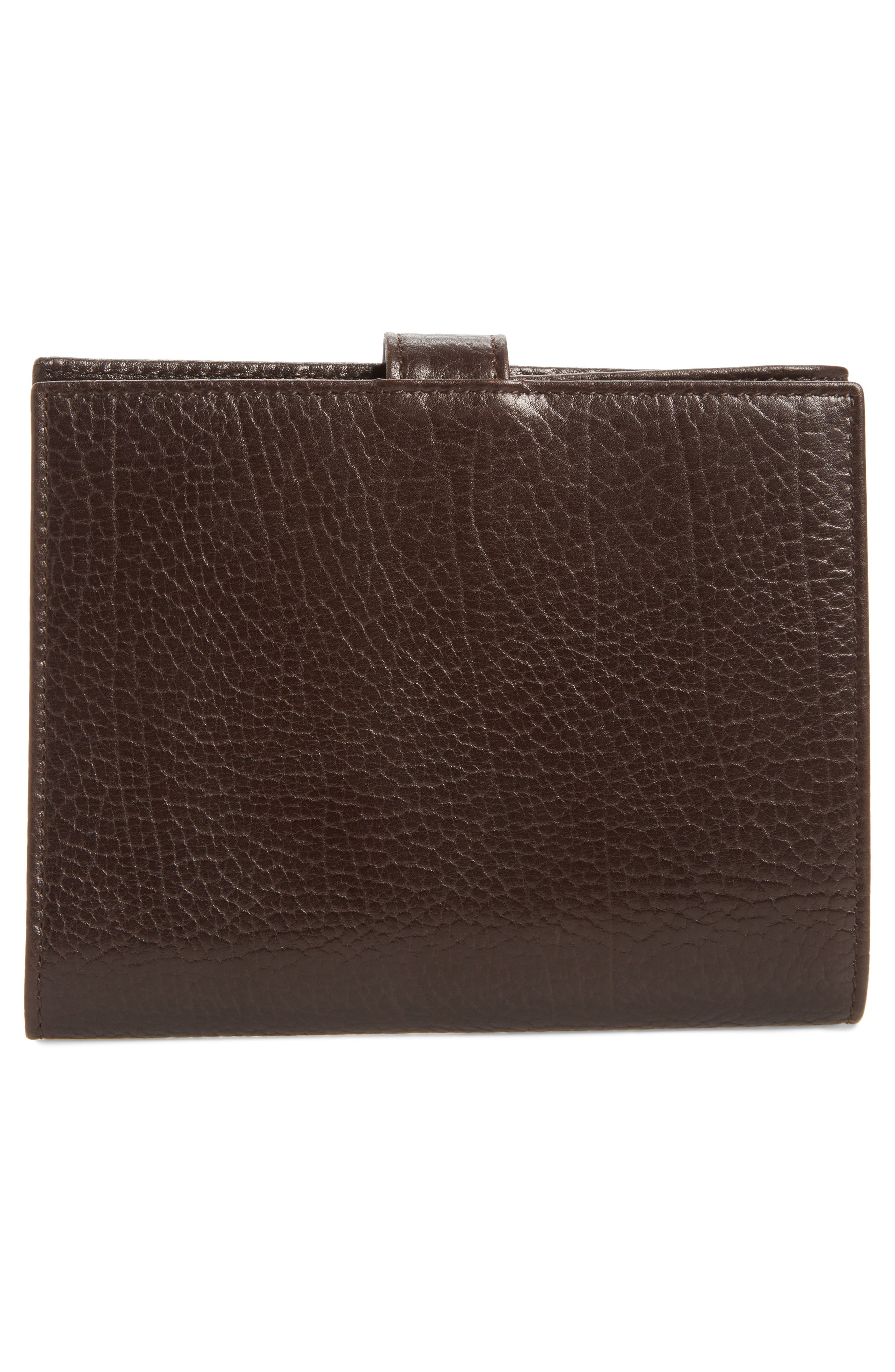 Perseo Leather Travel Wallet,                             Alternate thumbnail 3, color,                             Brown