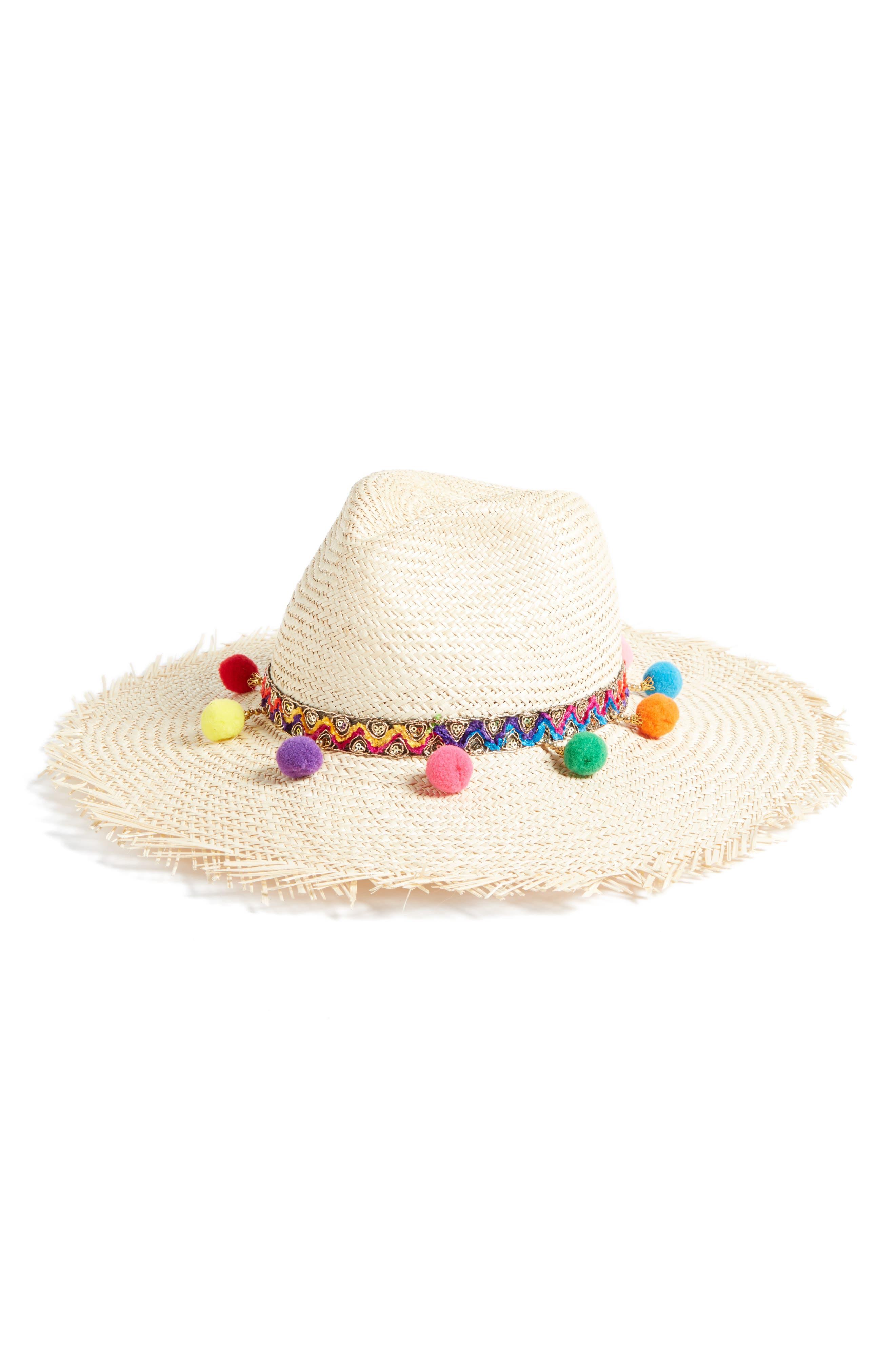 Chakra Frayed Edge Safari Hat,                         Main,                         color, Natural