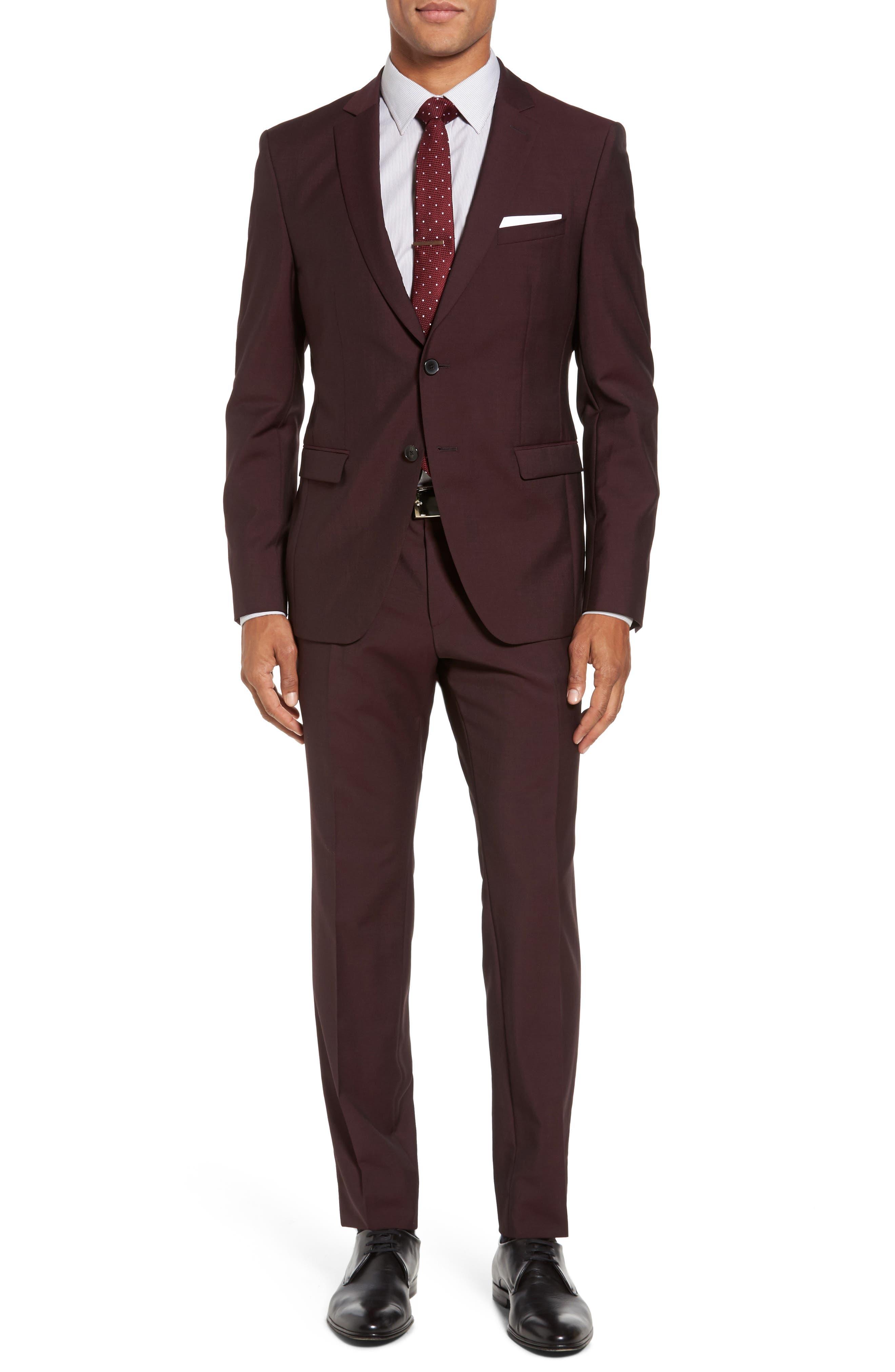 BOSS Reymond/Wenten Trim Fit Solid Wool & Mohair Suit