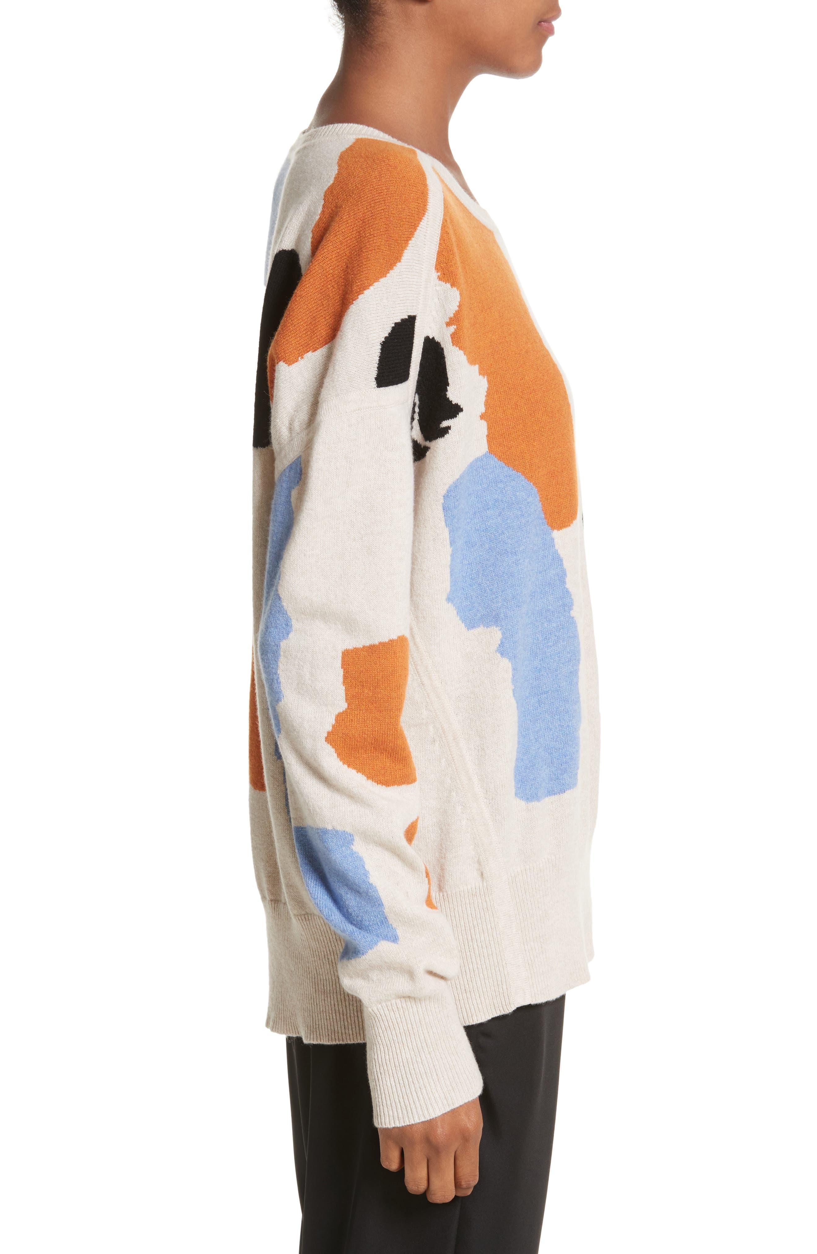Palette Cashmere & Merino Wool Sweater,                             Alternate thumbnail 3, color,                             Palette Greige