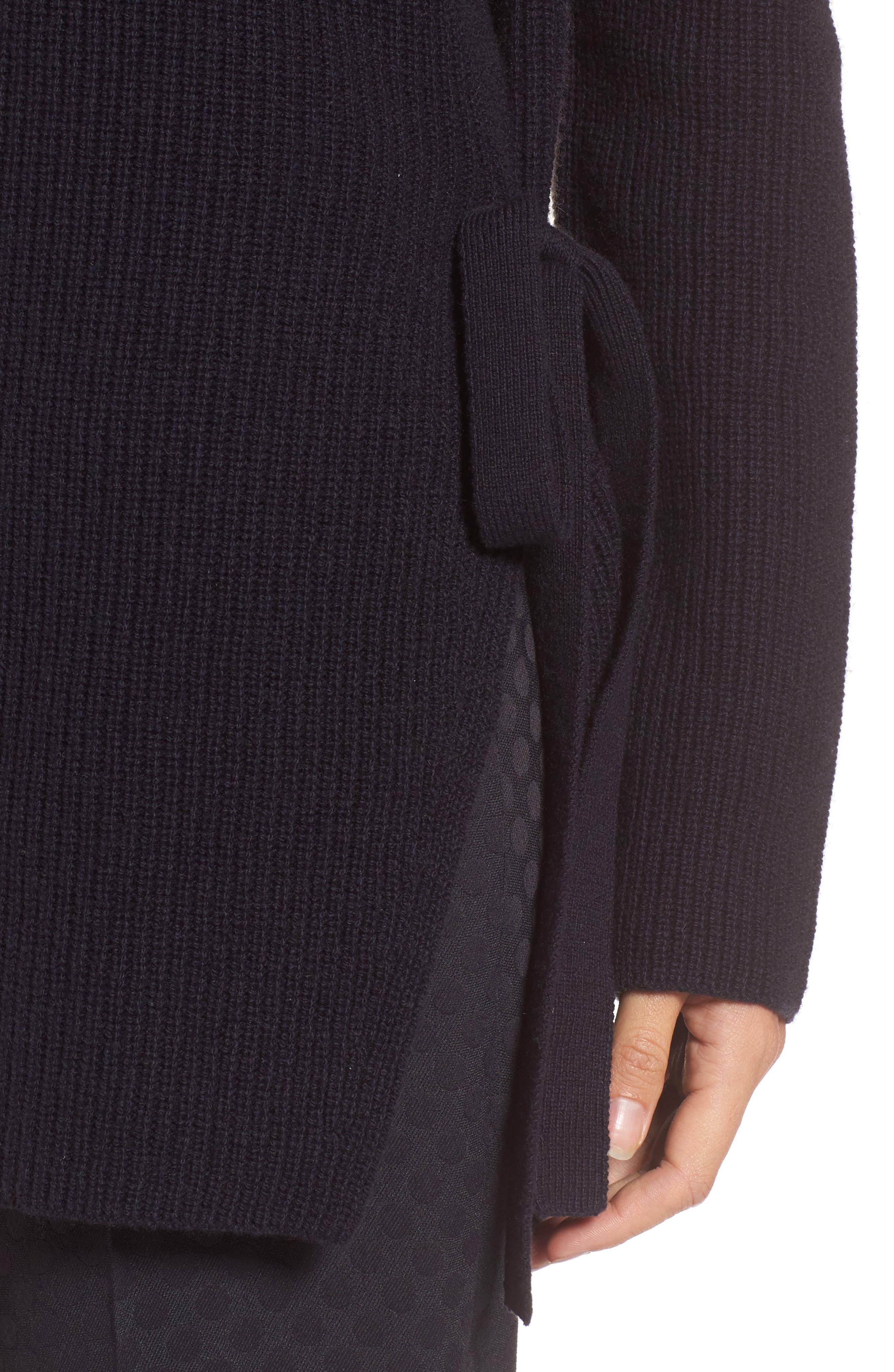 Alternate Image 4  - BOSS Filda Tie Side Wool Blend Sweater