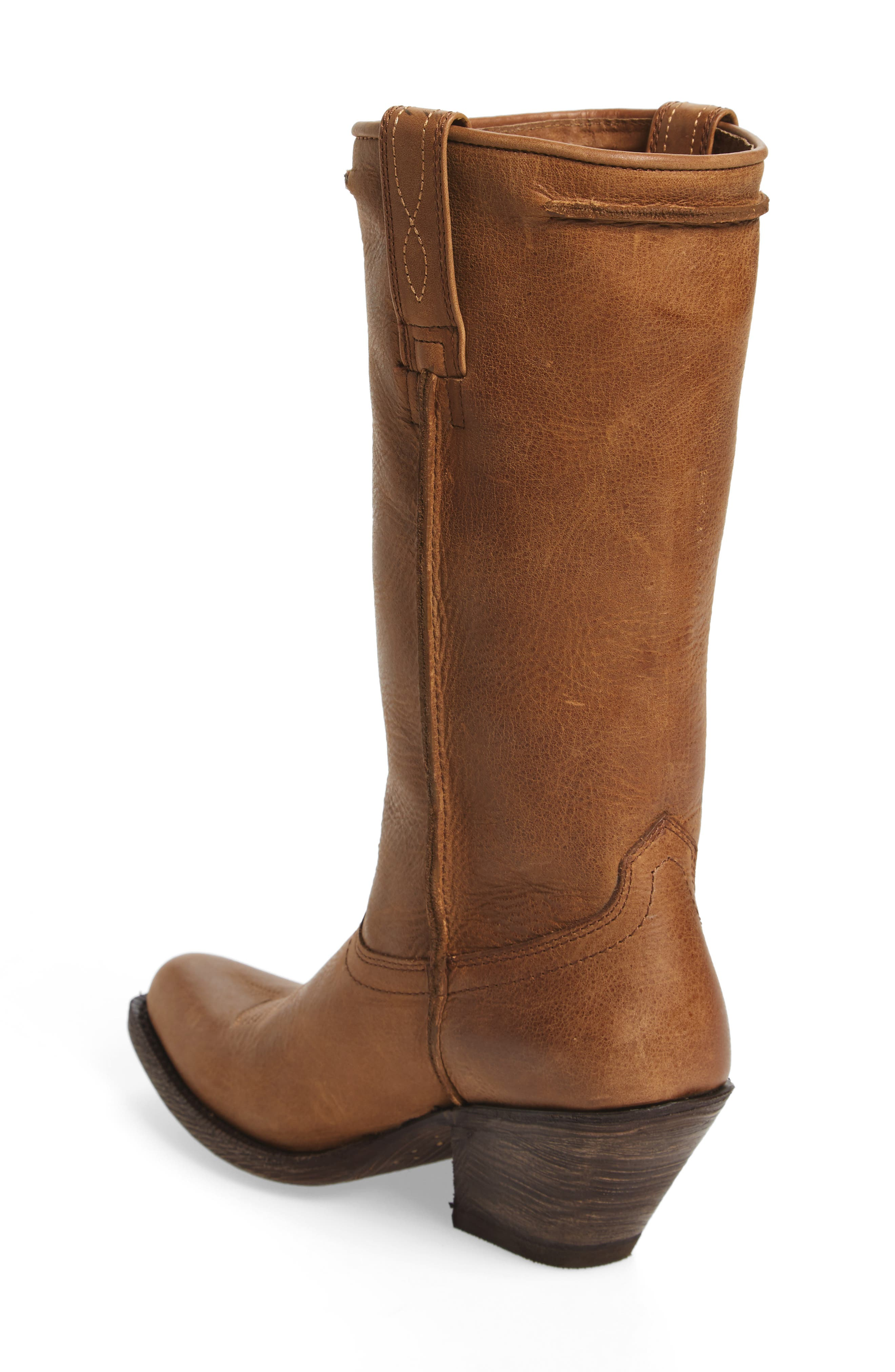 Rowan Stovepipe Western Boot,                             Alternate thumbnail 2, color,                             Southern Tan Leather