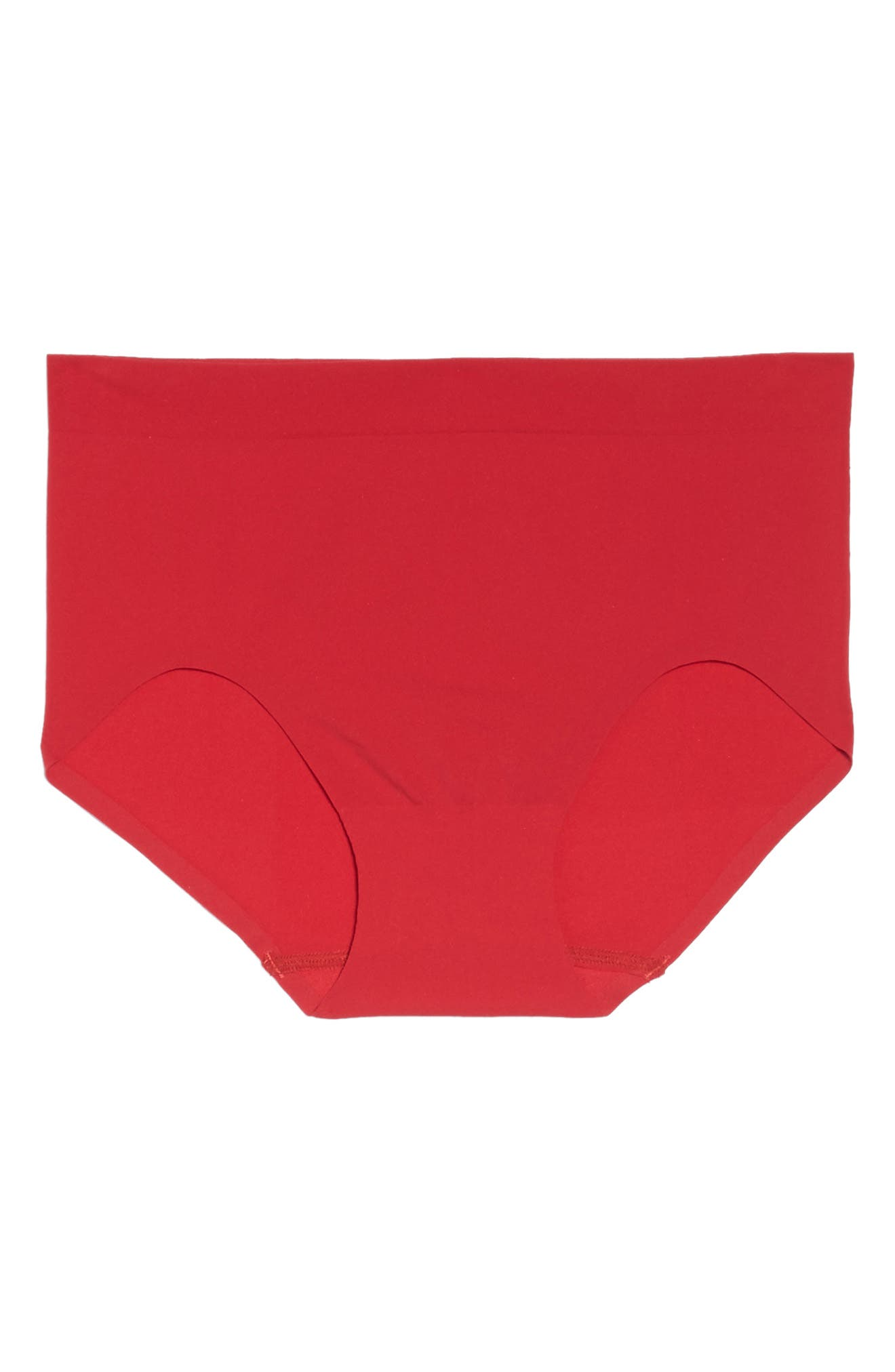 'Skinsense' Seamless Briefs,                             Alternate thumbnail 4, color,                             Tango Red