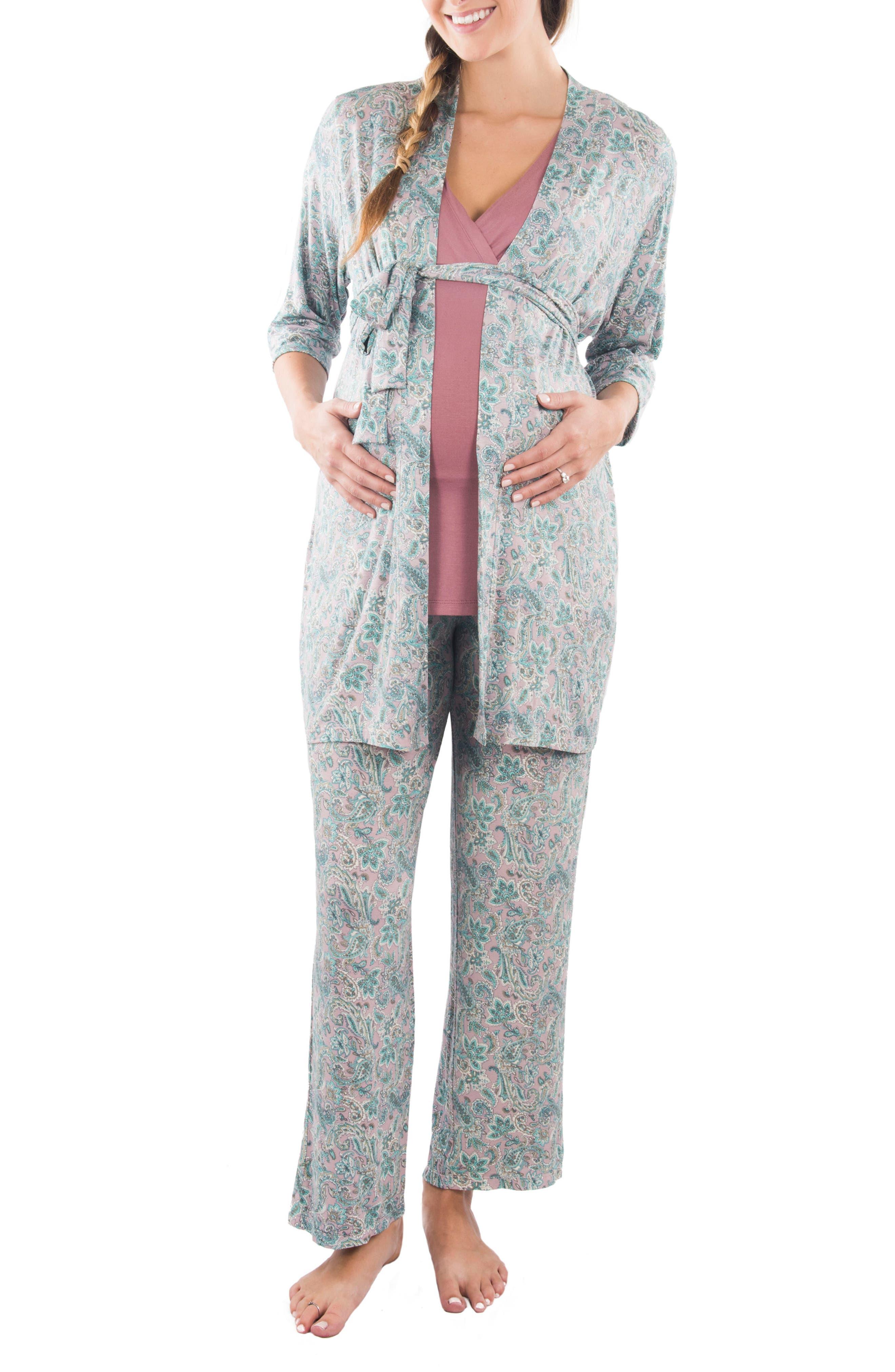 Main Image - Everly Grey Susan 5-Piece Maternity/Nursing Pajama Set