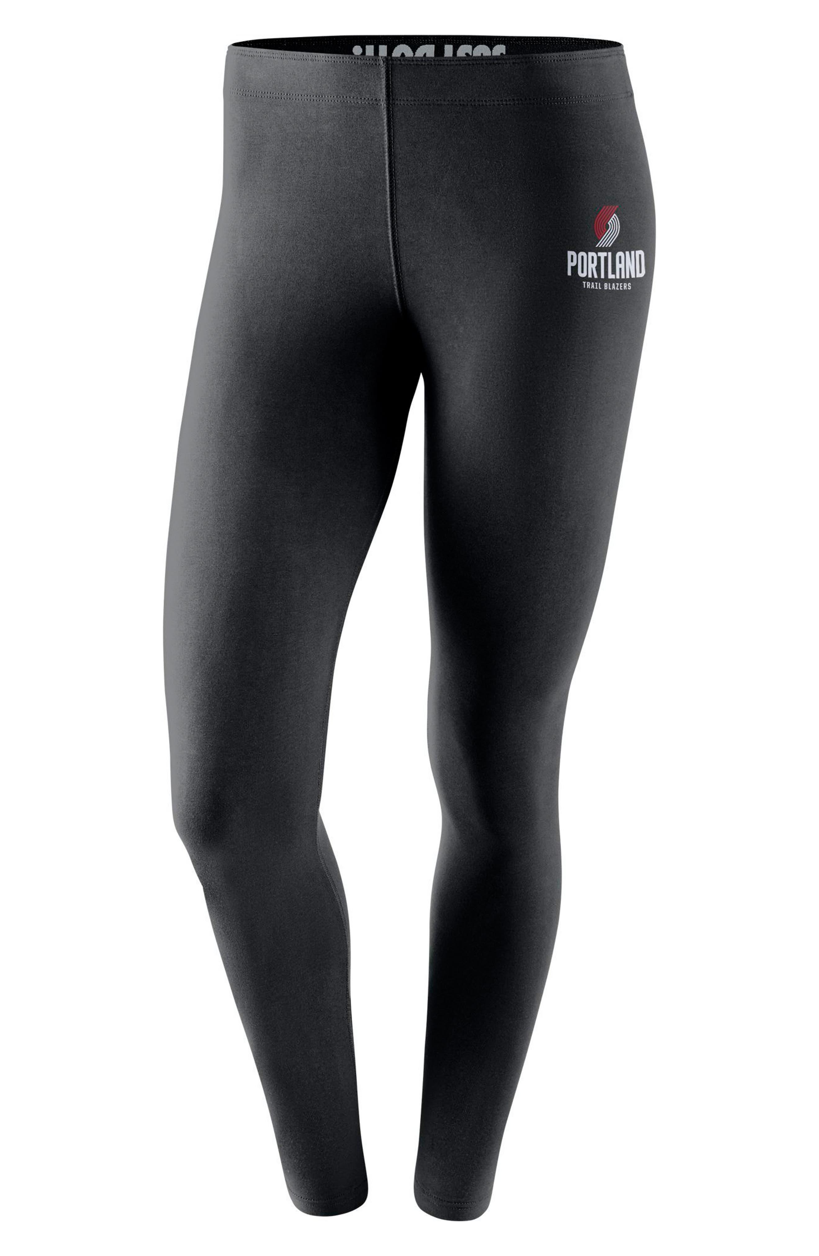 Portland Trail Blazers Leg-A-See Women's NBA Tights,                         Main,                         color, Black