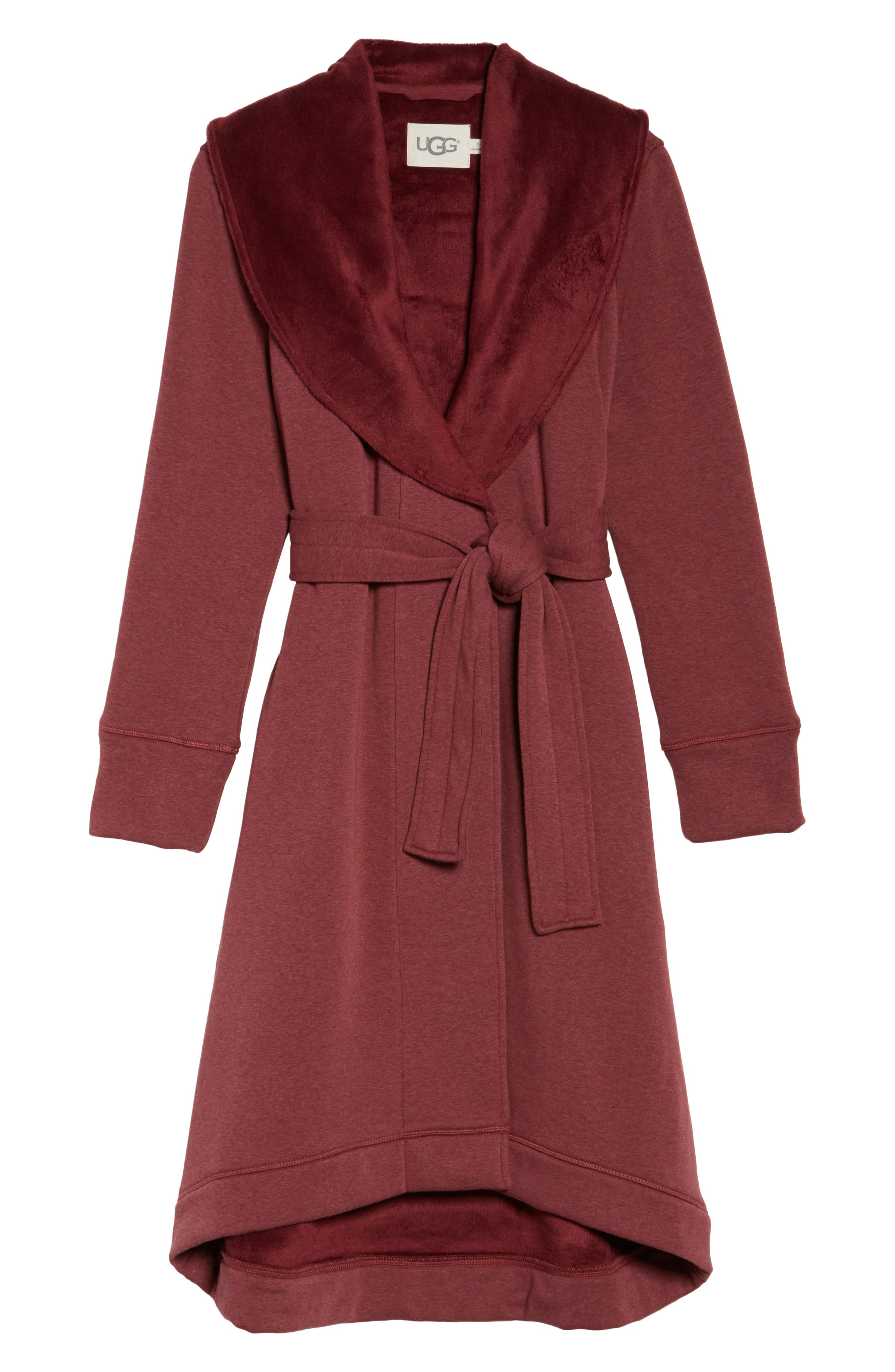 Alternate Image 4  - UGG® Duffield Double Knit Robe