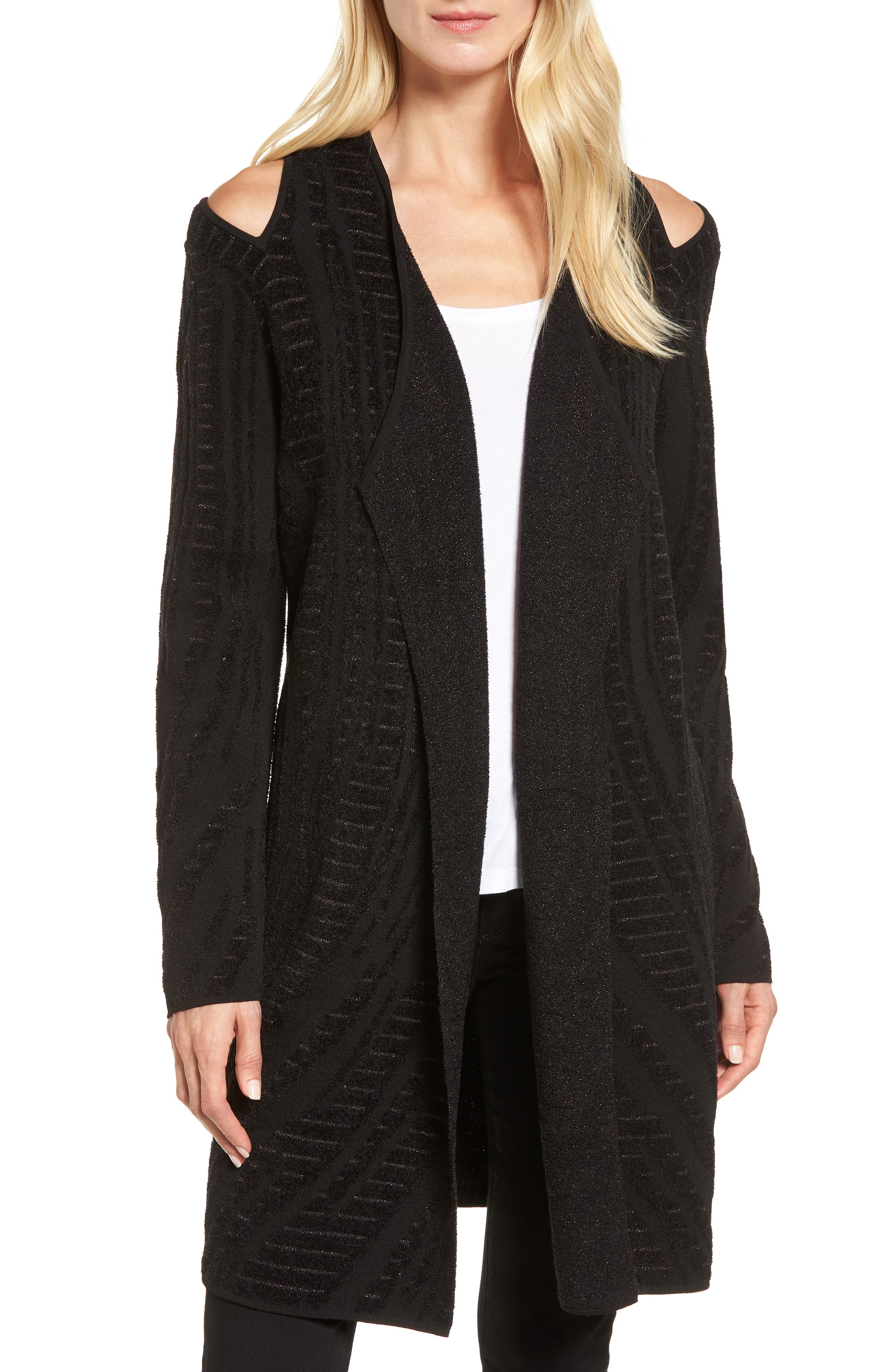 Alternate Image 1 Selected - NIC+ZOE Winter Reign Cold Shoulder Cardigan
