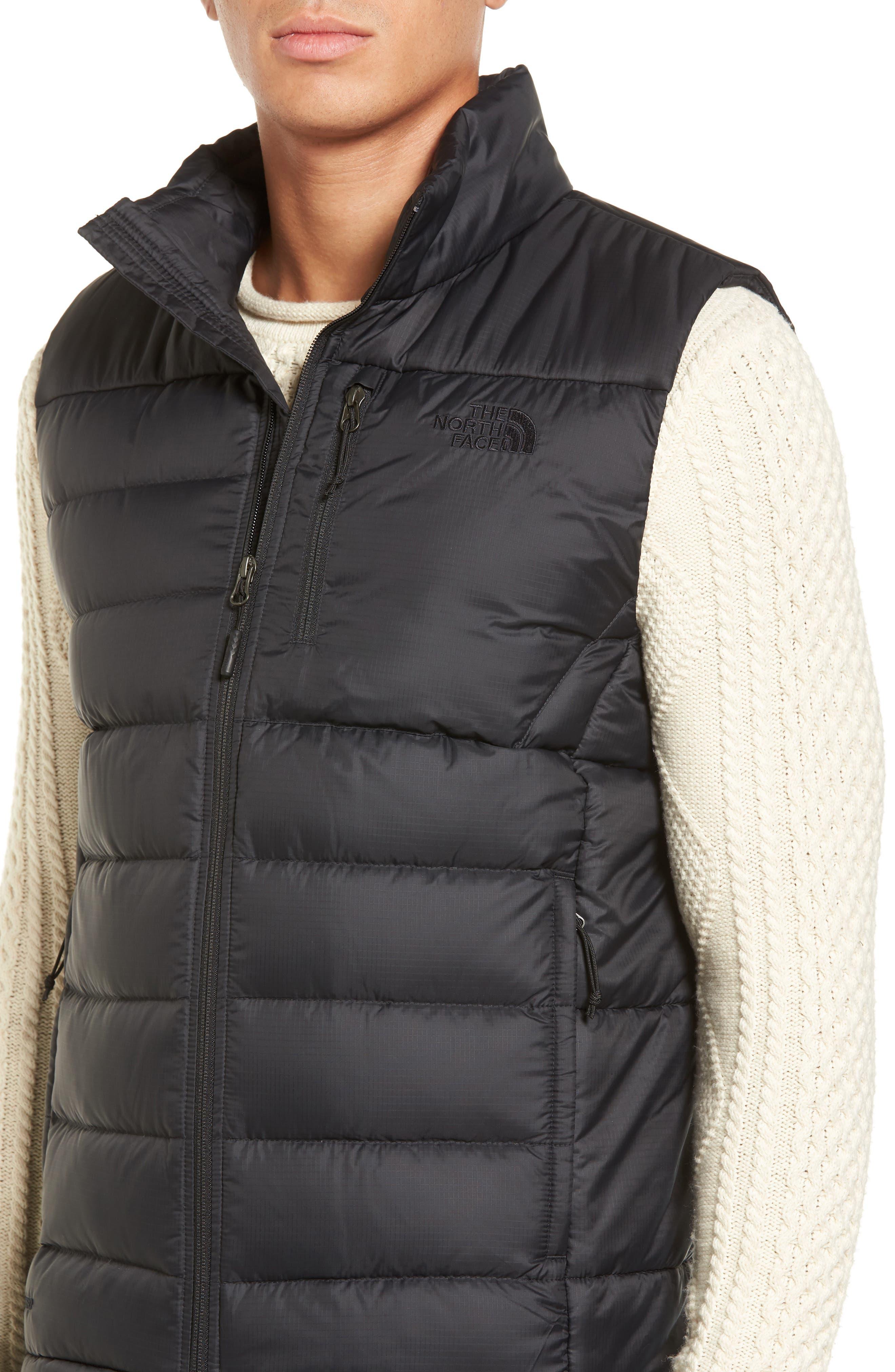 'Aconcagua' Goose Down Vest,                             Alternate thumbnail 4, color,                             Matte Black