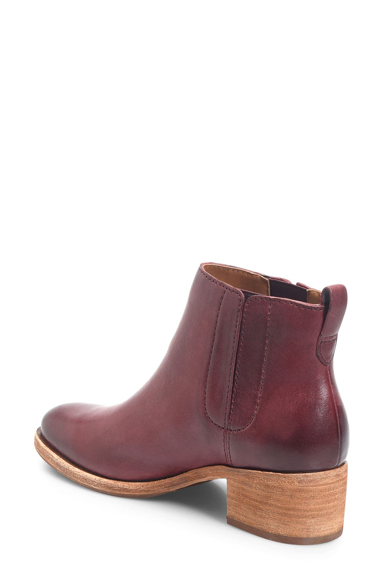 Mindo Chelsea Bootie,                             Alternate thumbnail 2, color,                             Burgundy Leather
