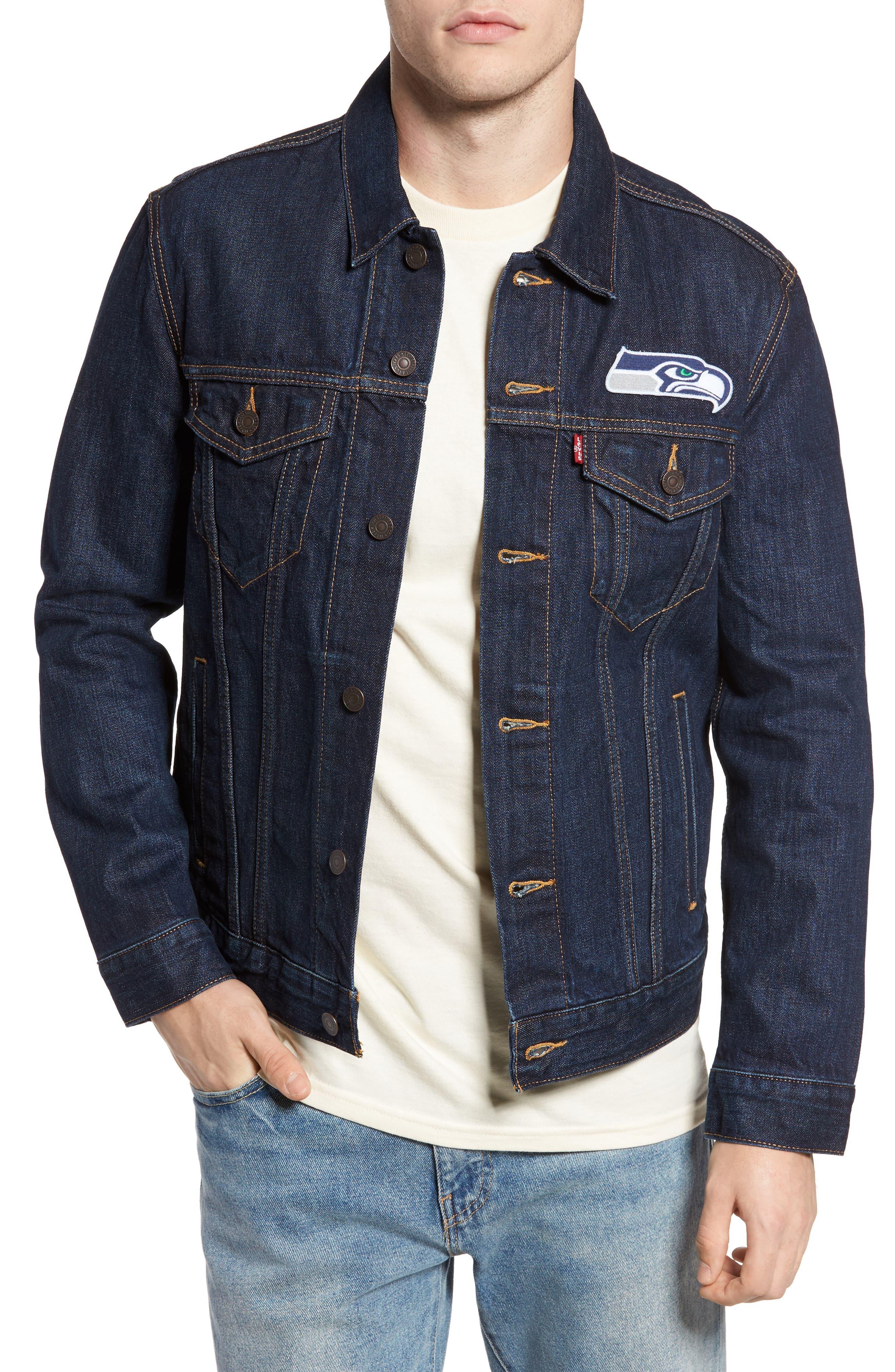 Alternate Image 1 Selected - Levi's® Seattle Seahawks Denim Trucker Jacket