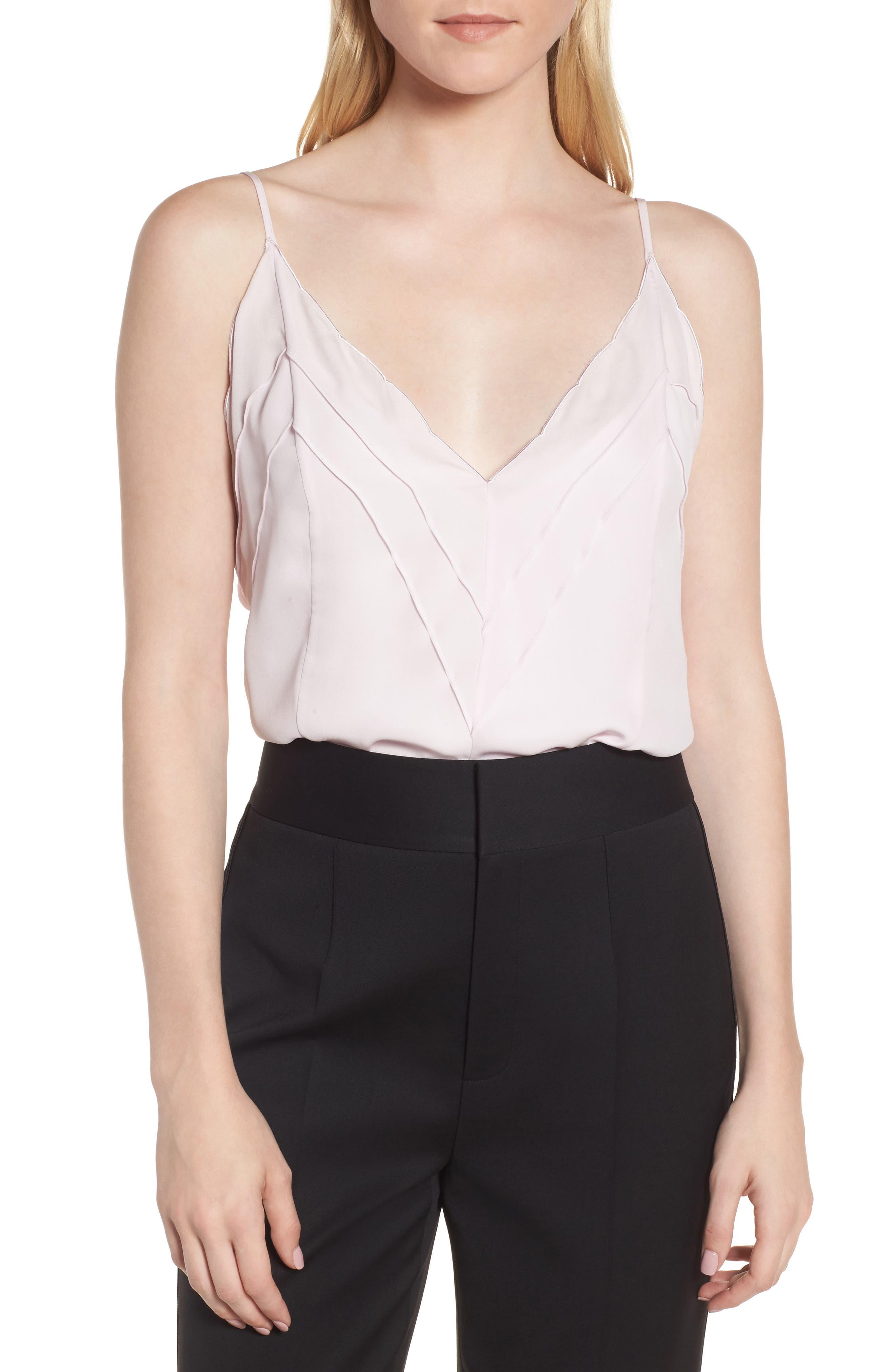 Silk Camisole,                         Main,                         color, Pink Ice