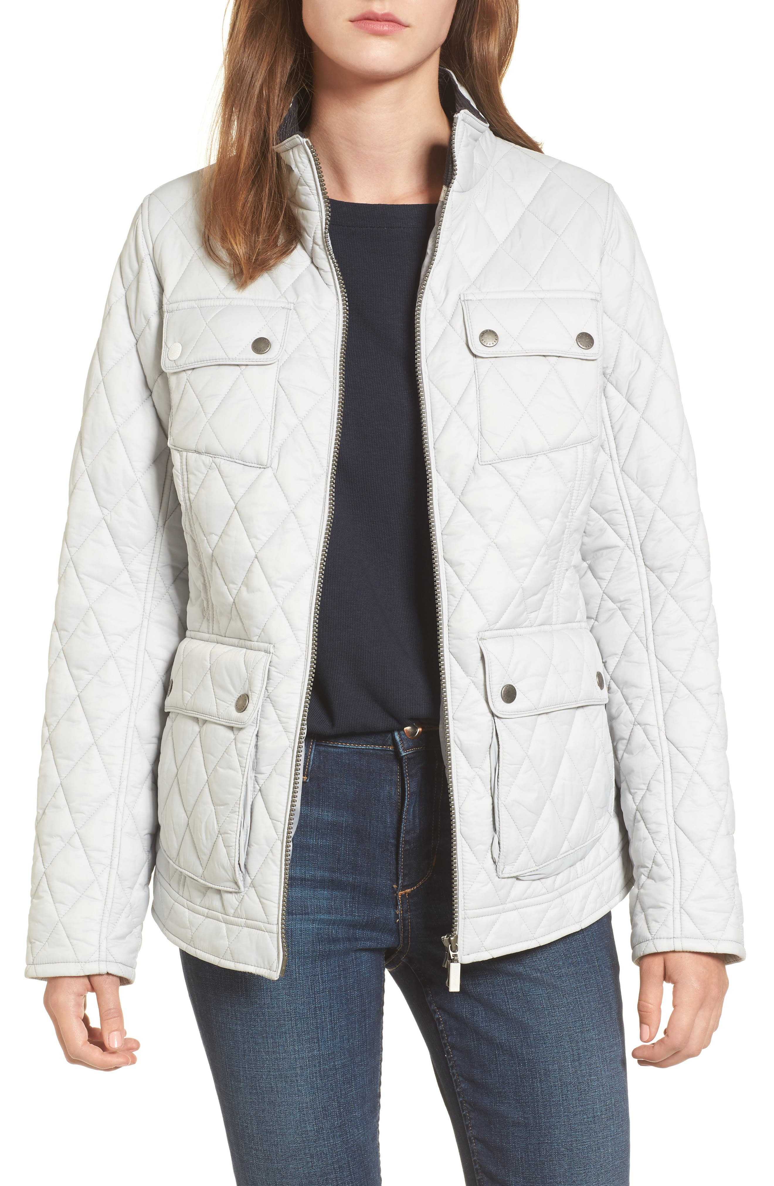 Dolostone Quilted Jacket,                             Main thumbnail 1, color,                             Ice White