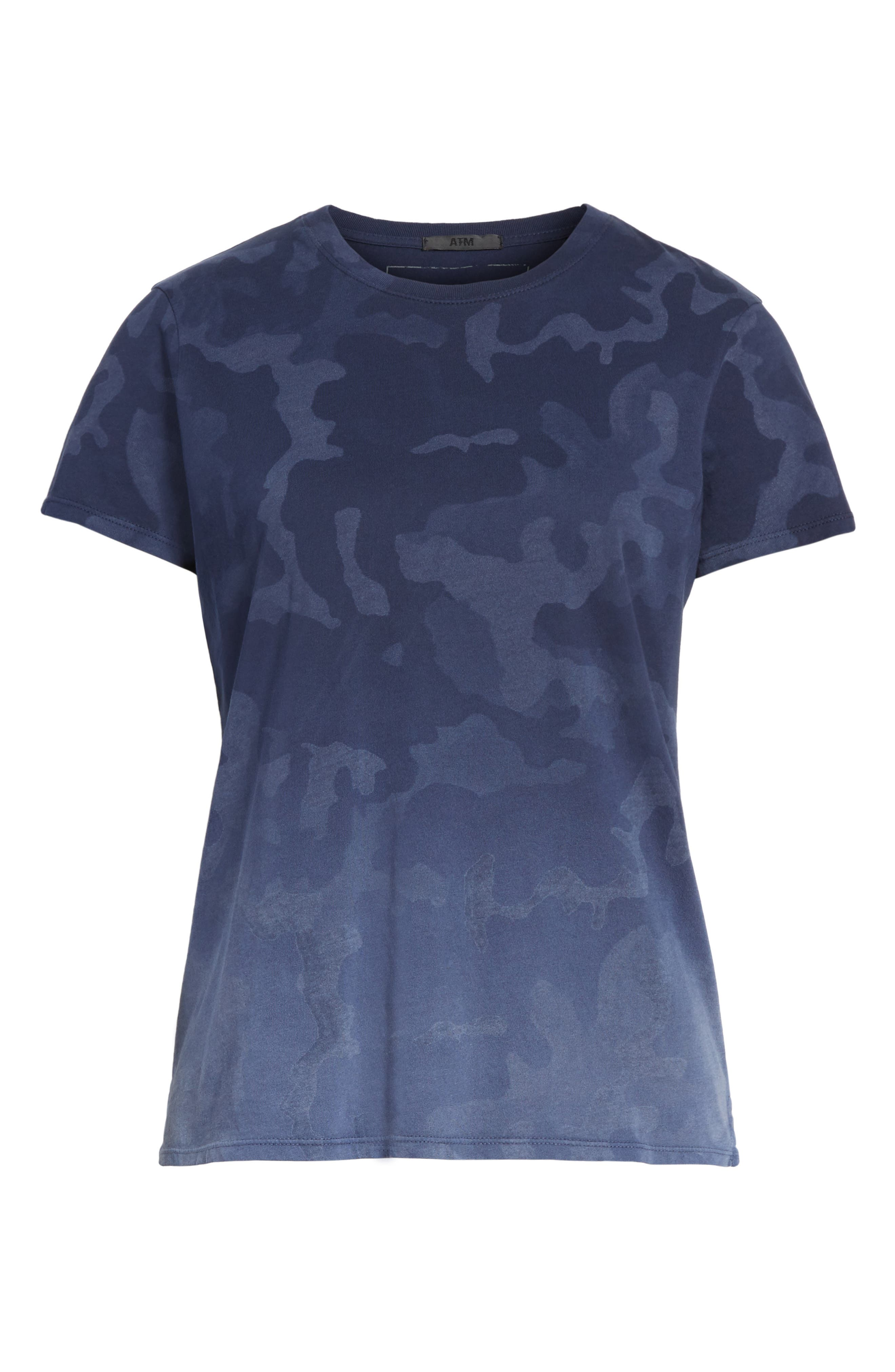 Camouflage Print Cotton Tee,                             Alternate thumbnail 6, color,                             Blue Camo
