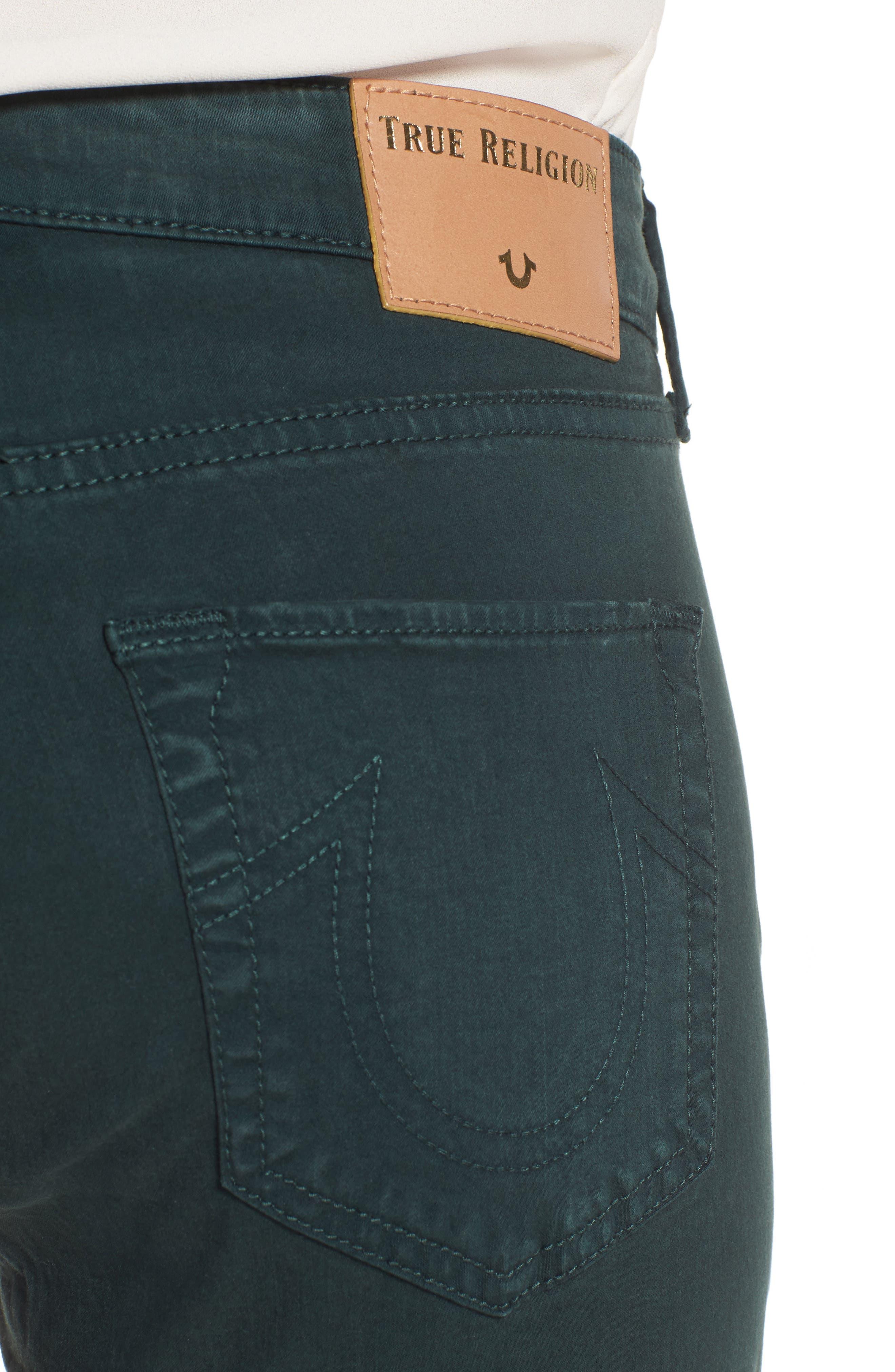 Jennie Curvy Skinny Jeans,                             Alternate thumbnail 4, color,                             Hunter Green