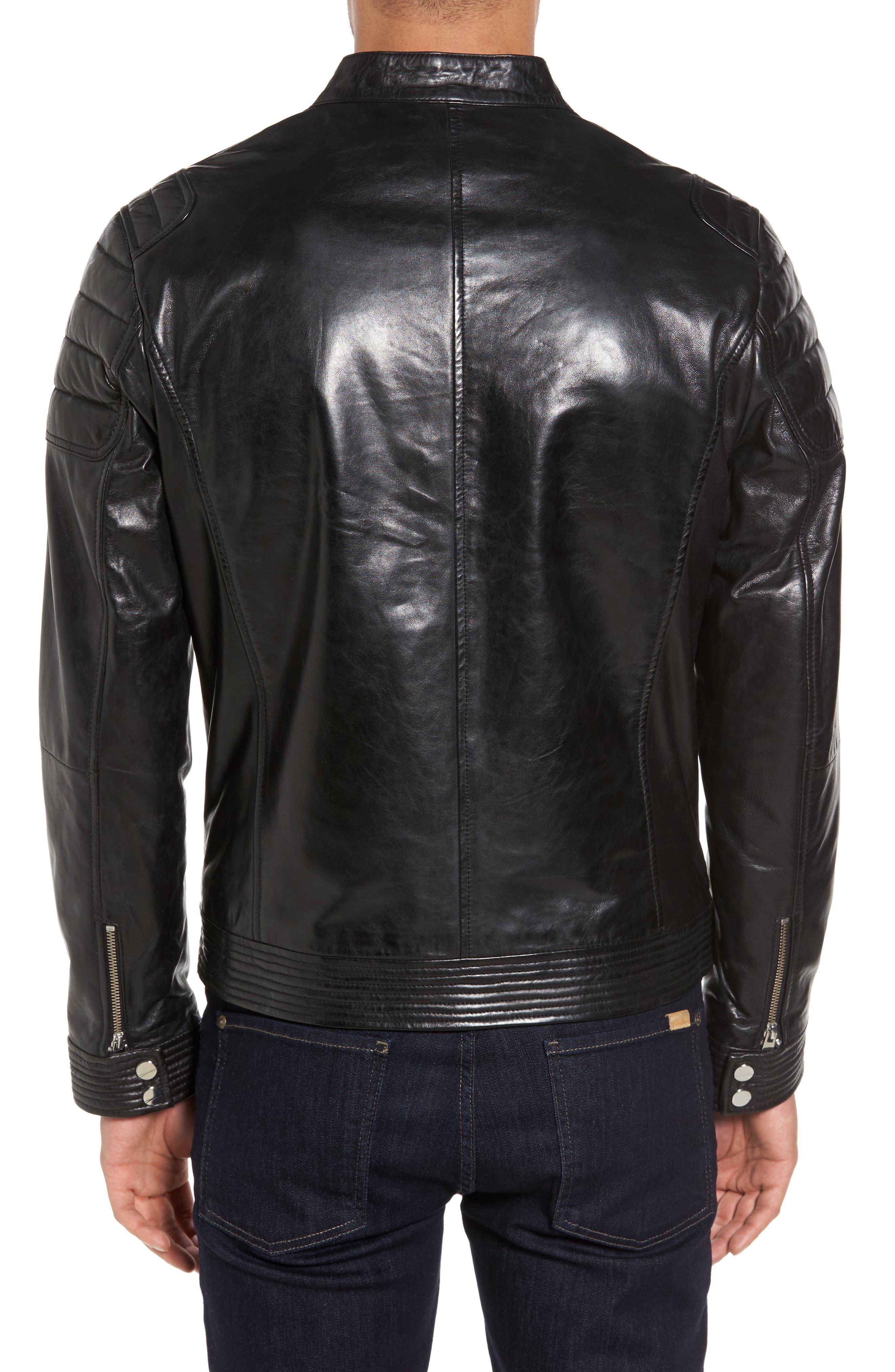 Alternate Image 2  - LAMARQUE Leather Moto Jacket